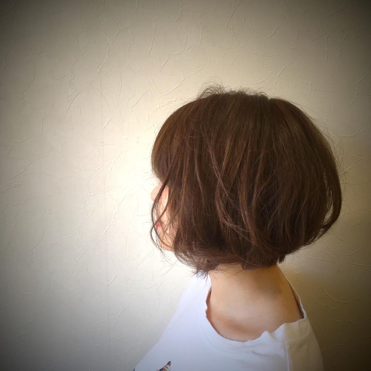 アンニュイほつれヘア ナチュラル可愛い ガーリー ボブ ヘアスタイルや髪型の写真・画像