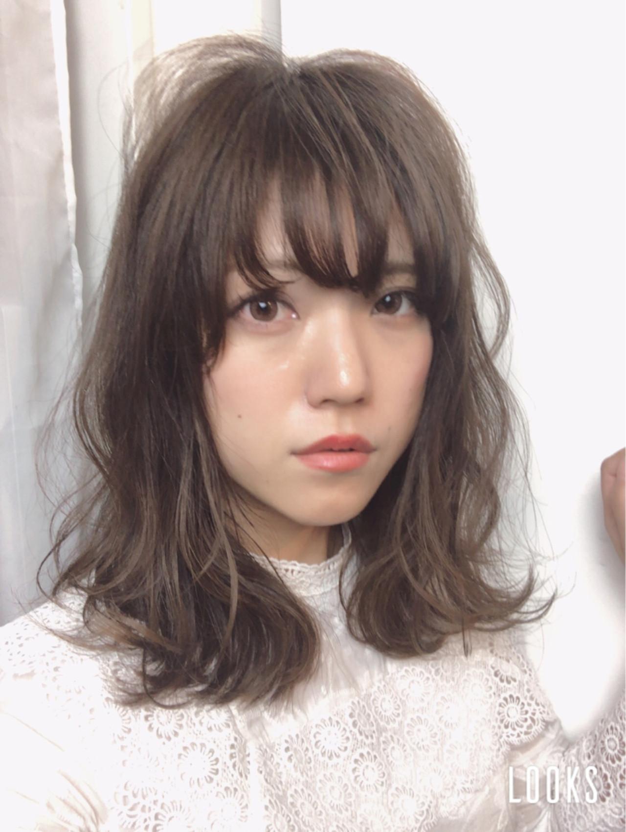 ミディアム おフェロ 愛され 大人かわいい ヘアスタイルや髪型の写真・画像 | Marika Yoshioka /