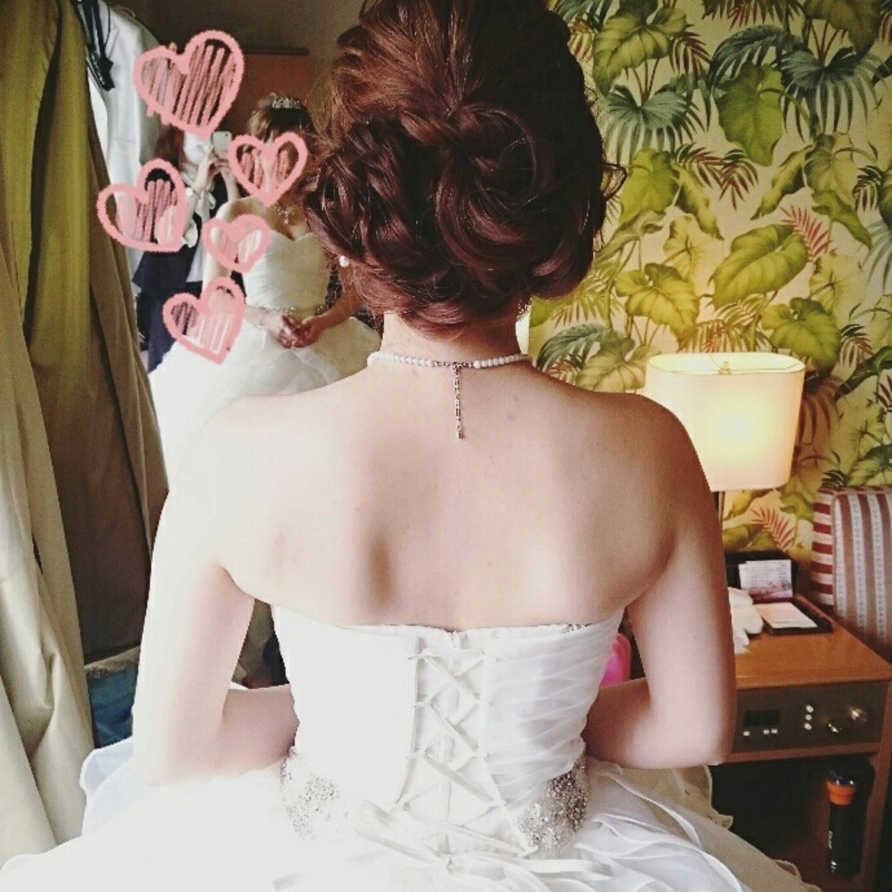 二次会 ヘアアレンジ 結婚式 ゆるふわ ヘアスタイルや髪型の写真・画像