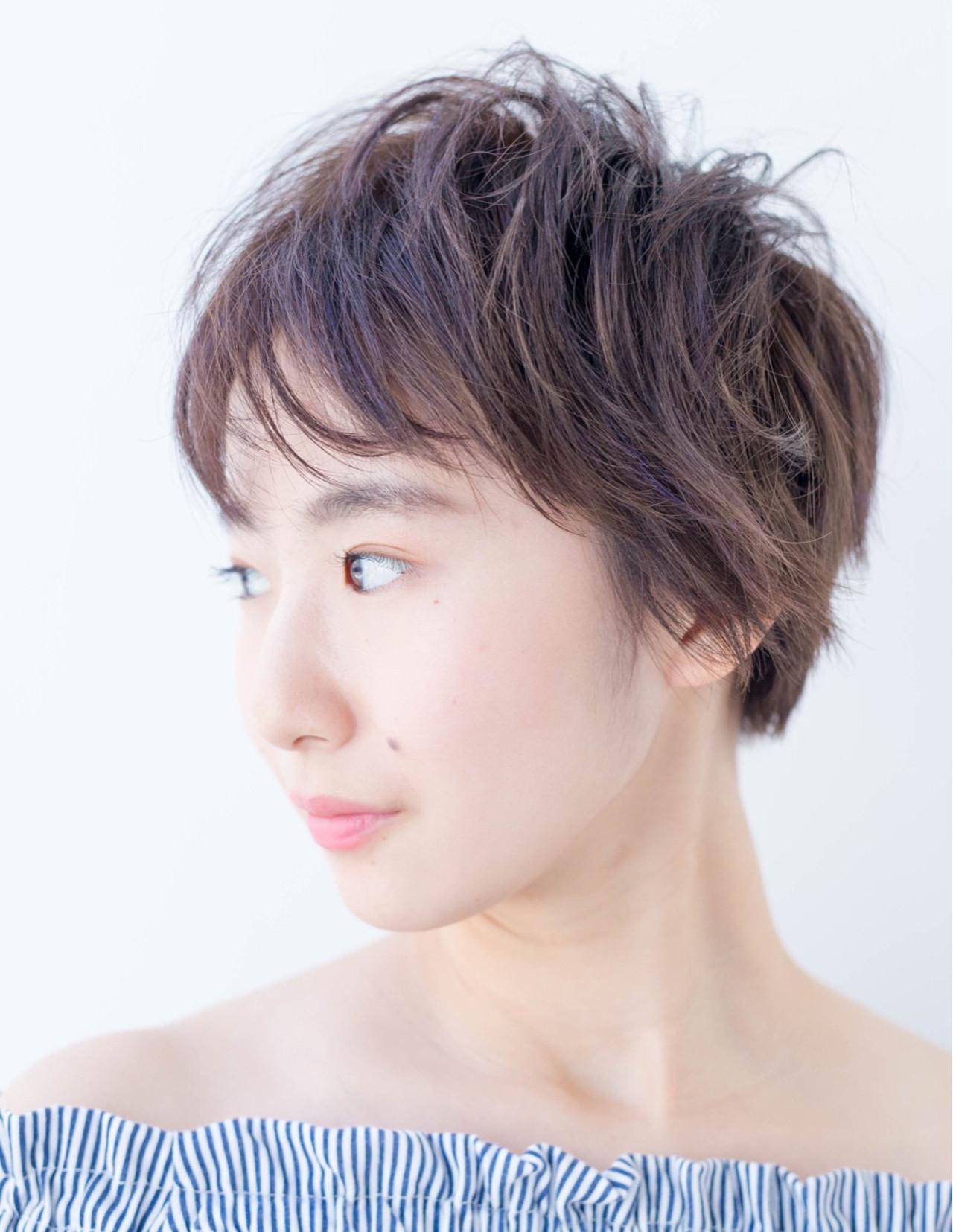 キュート ナチュラル 小顔 パープル ヘアスタイルや髪型の写真・画像 | Fringe 染谷正 / Fringe Hair Salon