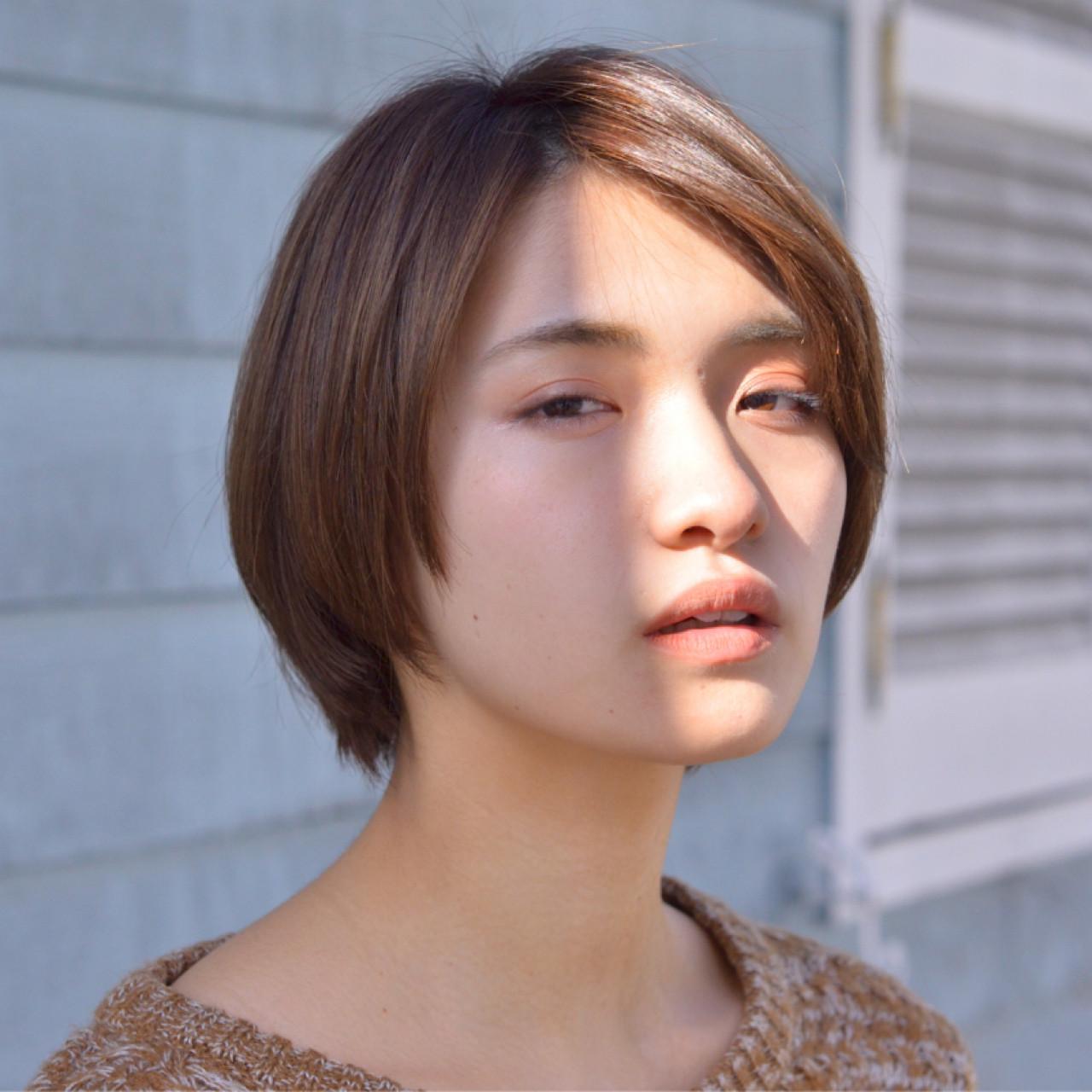 デート 透明感 ショート オフィス ヘアスタイルや髪型の写真・画像   豊田ゆうき / CERISIER7