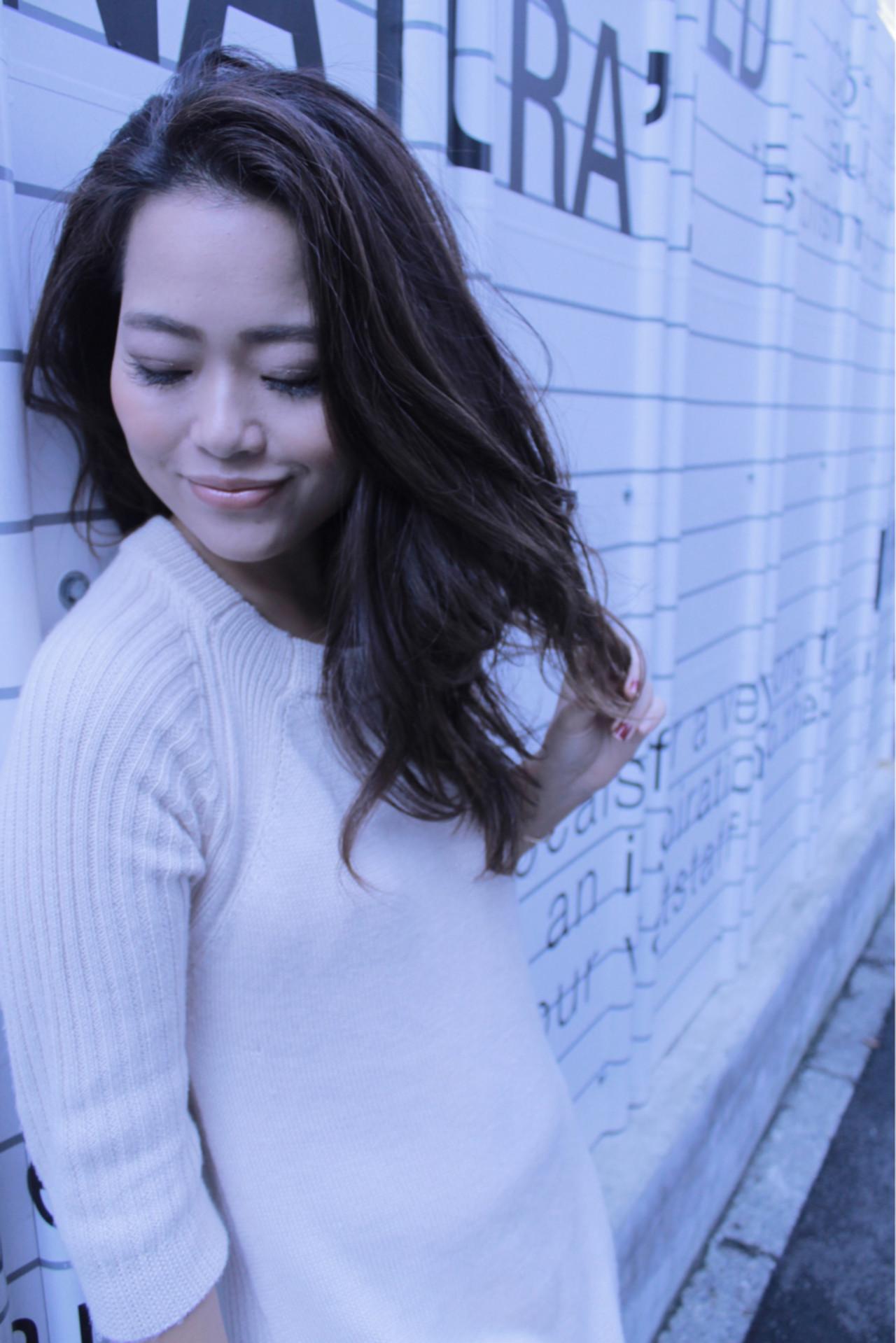 大人かわいい ロング 抜け感 ストリート ヘアスタイルや髪型の写真・画像 | aya / hair calm