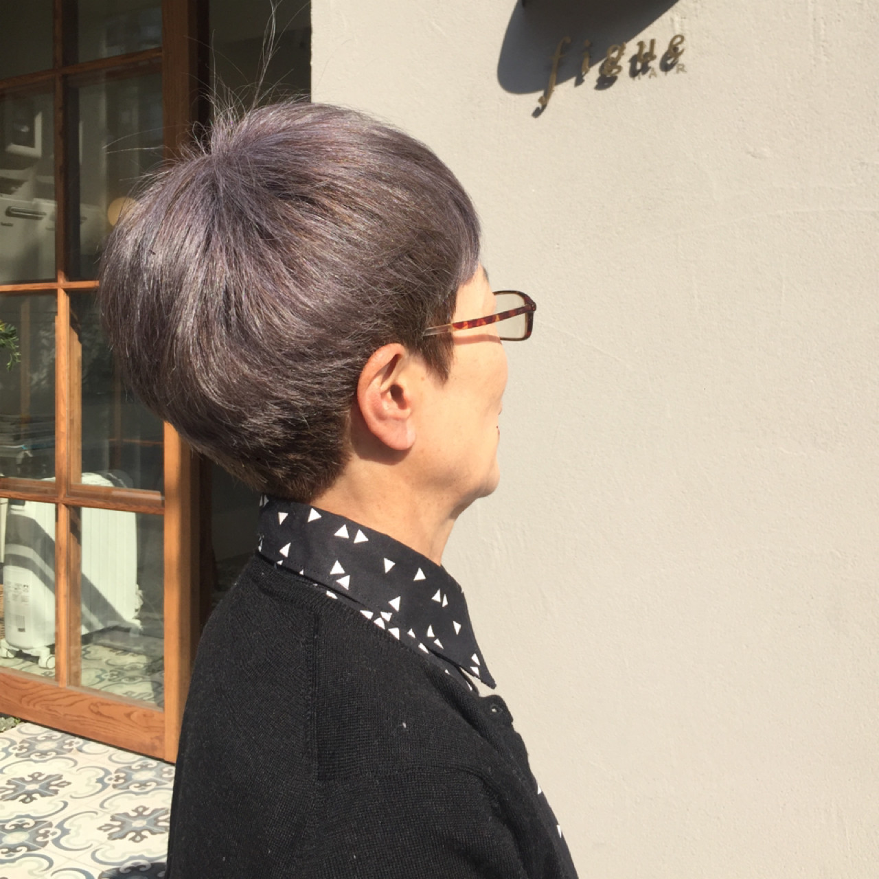 外国人風カラー グレージュ マッシュ ショート ヘアスタイルや髪型の写真・画像