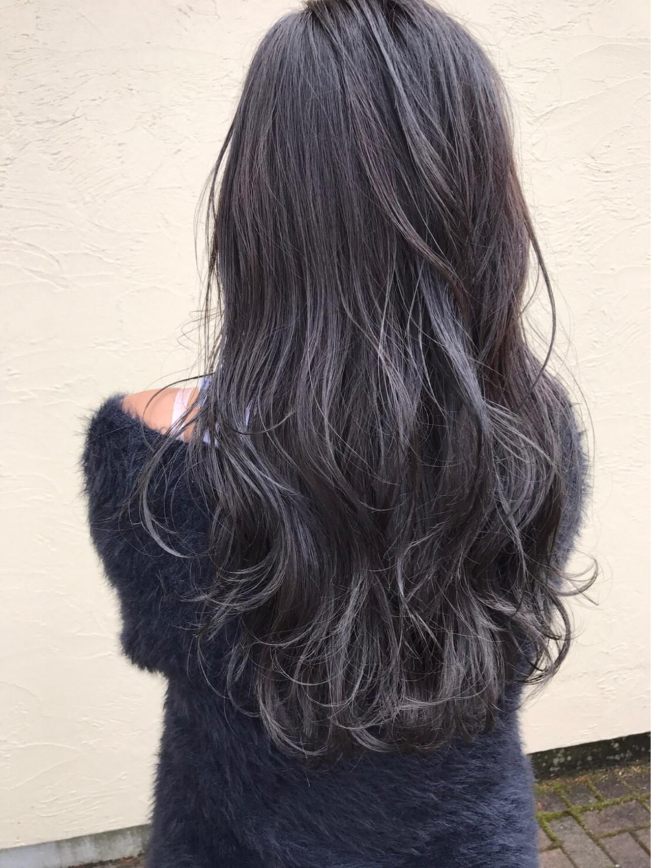 ストリート セミロング ダブルカラー ヘアスタイルや髪型の写真・画像