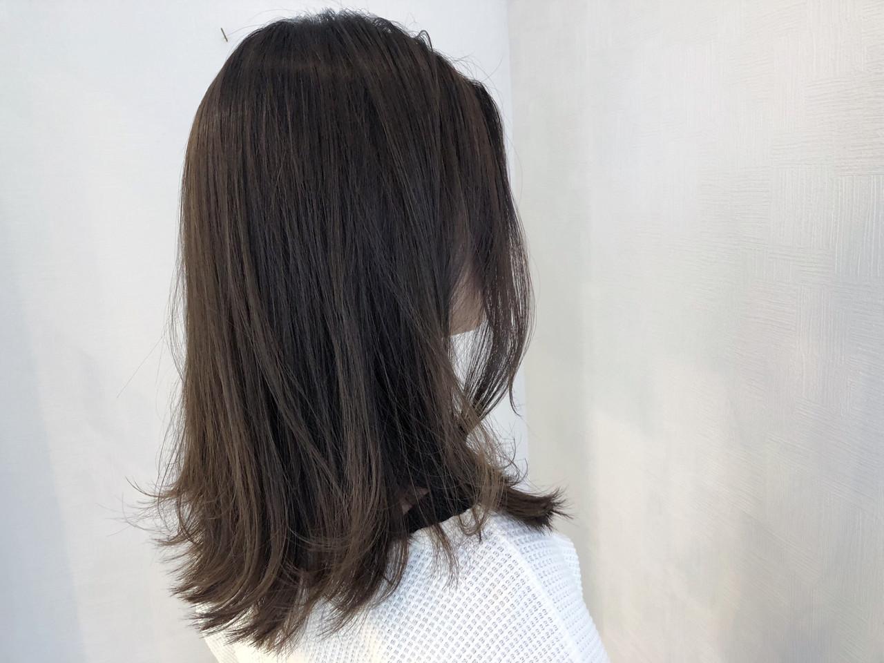 ミディアム 簡単ヘアアレンジ 切りっぱなしボブ アウトドア ヘアスタイルや髪型の写真・画像 | 牧 優子 / agu HAIR cyan