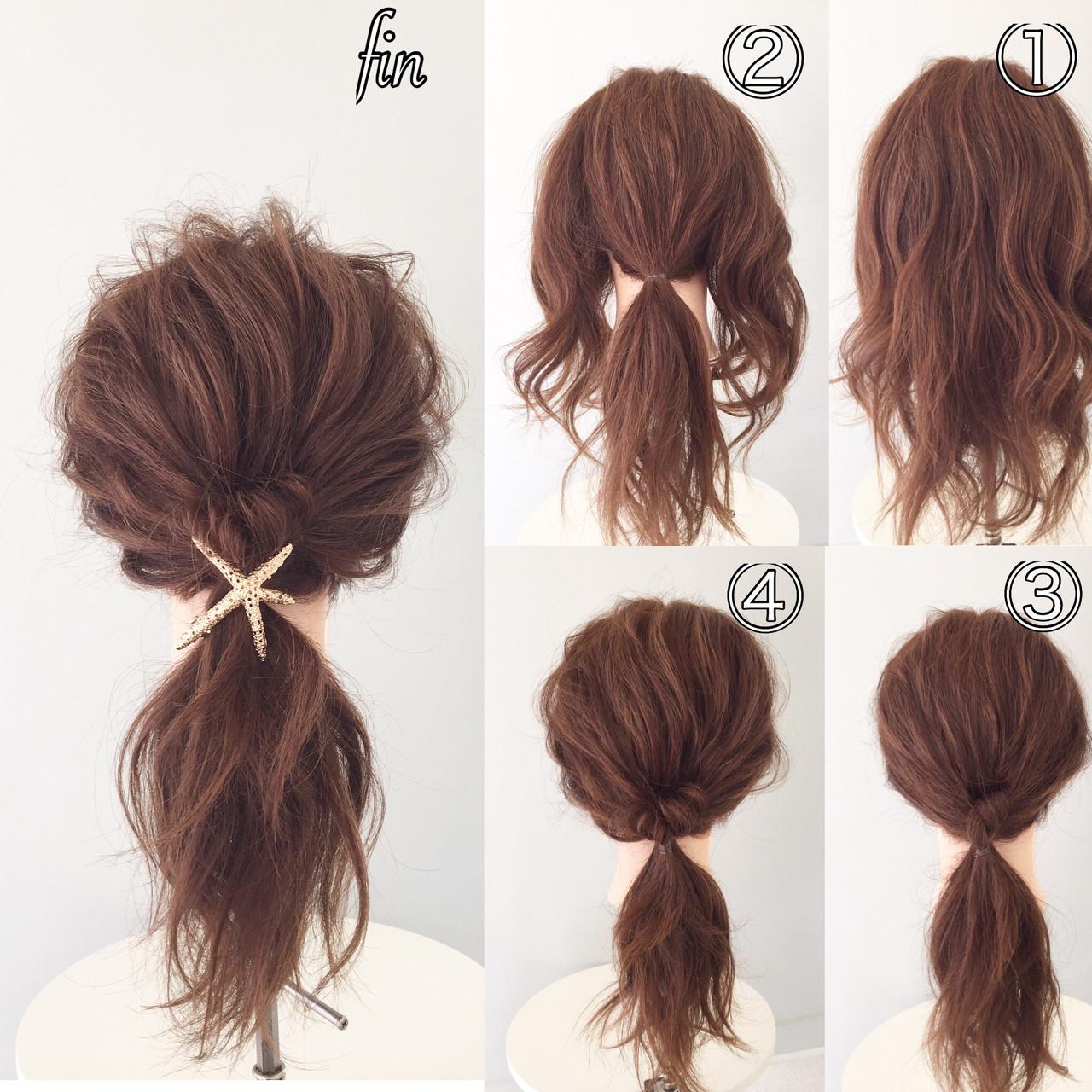 簡単ヘアアレンジ 大人女子 ヘアアレンジ ヘアアクセ ヘアスタイルや髪型の写真・画像