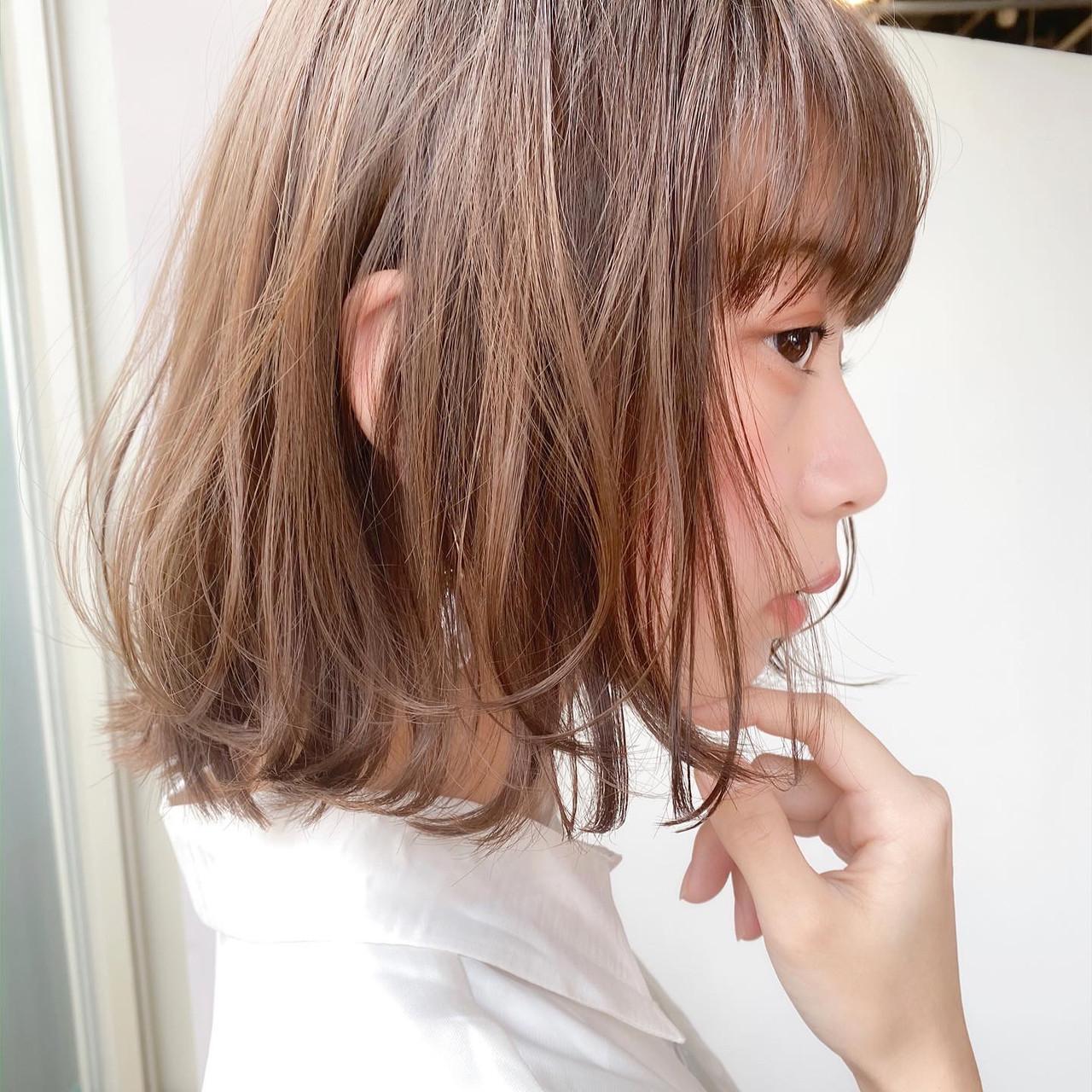 レイヤースタイル ボブ ナチュラル レイヤーカット ヘアスタイルや髪型の写真・画像