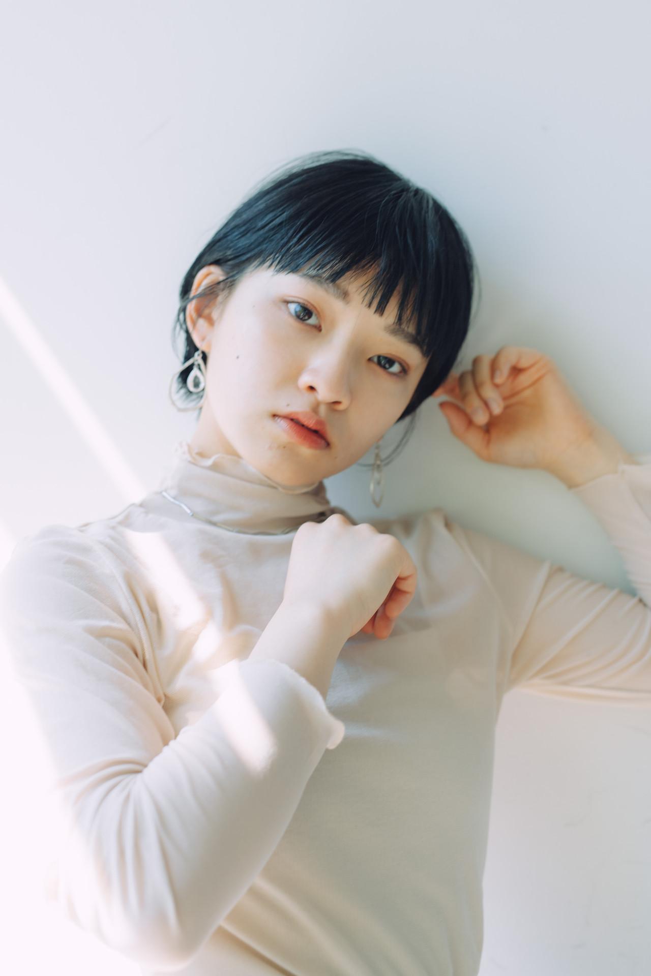 小顔ショート ショートボブ ショートヘア ハンサムショート ヘアスタイルや髪型の写真・画像 | 児玉善央 / GARDEN harajuku
