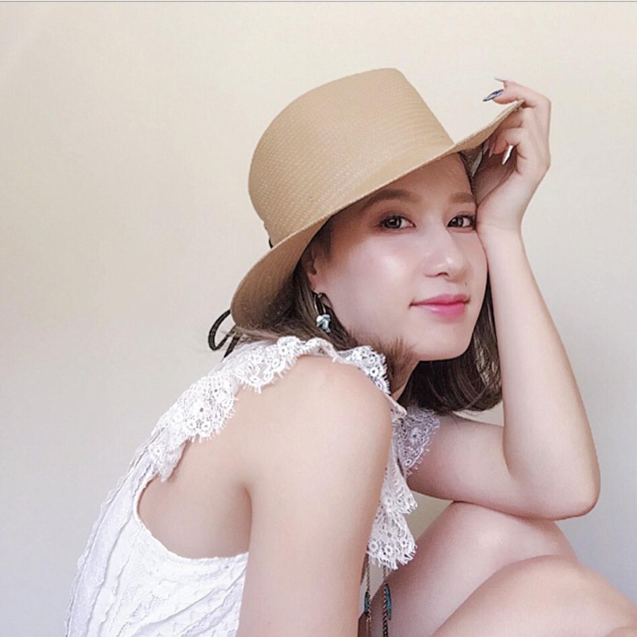 夏 涼しげ フェミニン ボブ ヘアスタイルや髪型の写真・画像