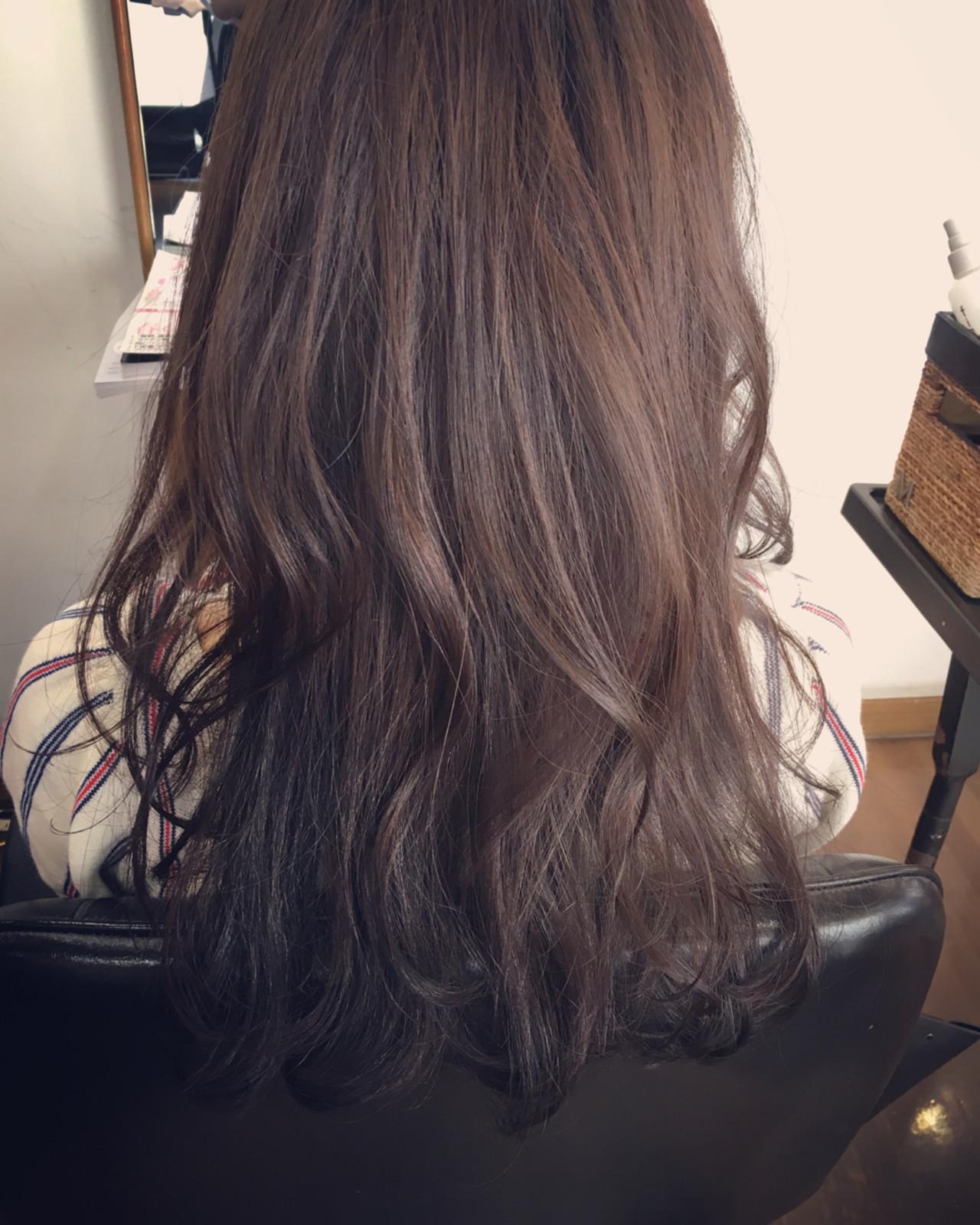 パーマ 斜め前髪 デート ロング ヘアスタイルや髪型の写真・画像