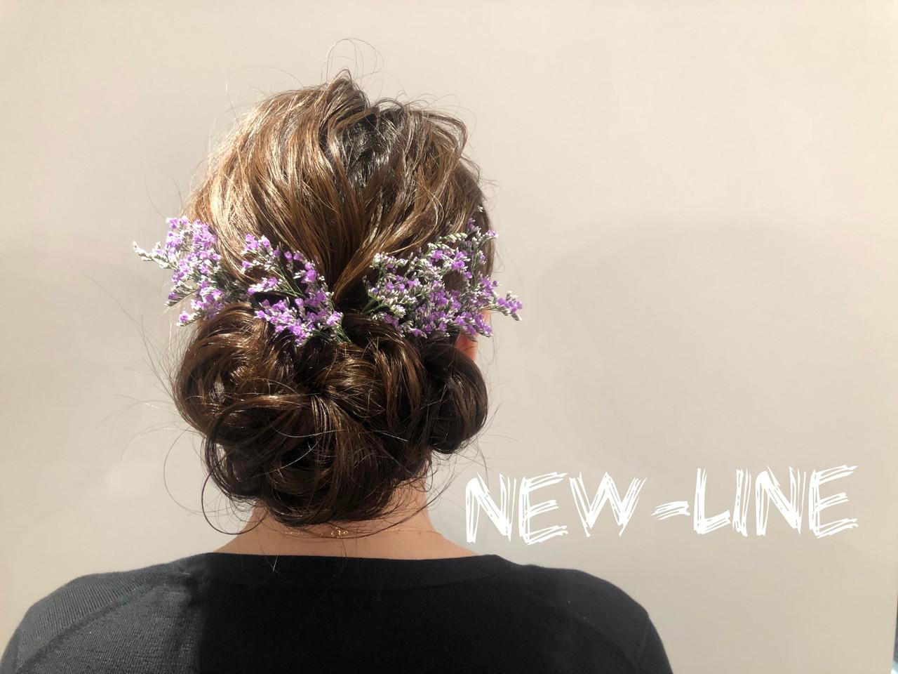フェミニン ゆるふわセット アンニュイほつれヘア 結婚式 ヘアスタイルや髪型の写真・画像