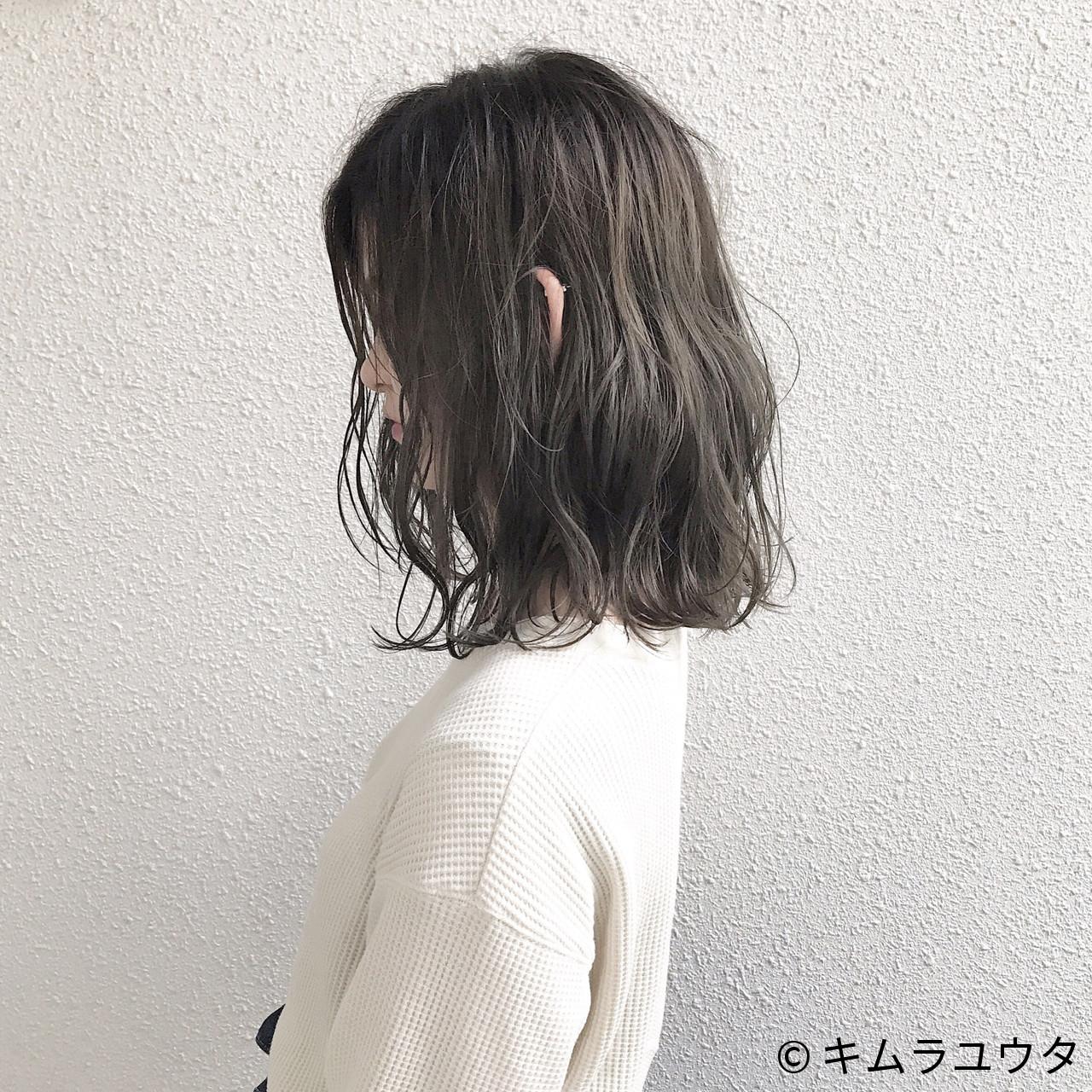 透明感 アッシュ ナチュラル ボブ ヘアスタイルや髪型の写真・画像   キムラユウタ / CHERIE hair design 〔シェリ・ヘアデザイン〕