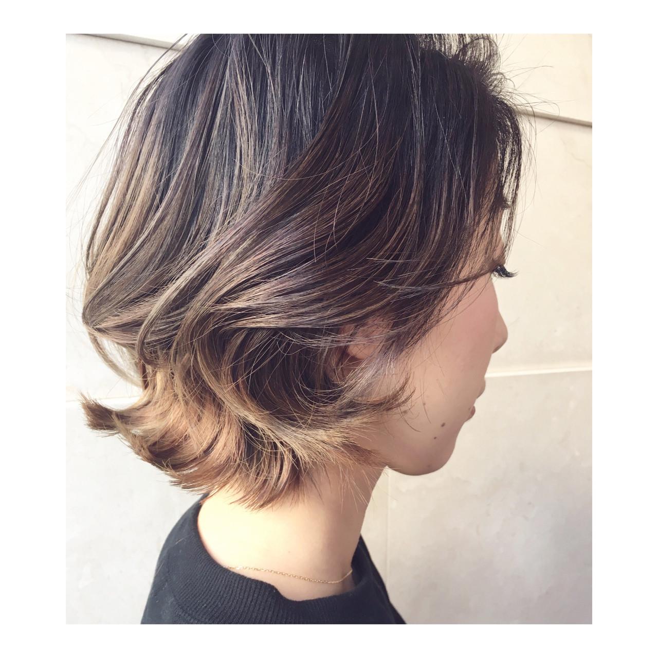 ストリート グラデーションカラー ショート 抜け感 ヘアスタイルや髪型の写真・画像