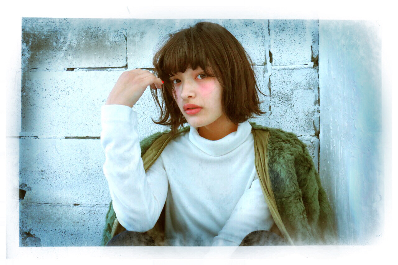 ボブ ショートボブ 外国人風 ストリート ヘアスタイルや髪型の写真・画像 | 藤原 豪大 / neolive es