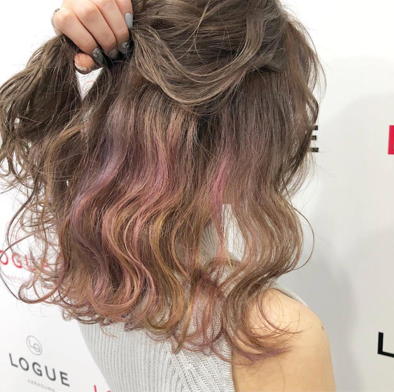ミディアム グラデーションカラー ダブルカラー 外国人風カラー ヘアスタイルや髪型の写真・画像 | AKANE / LOGUE