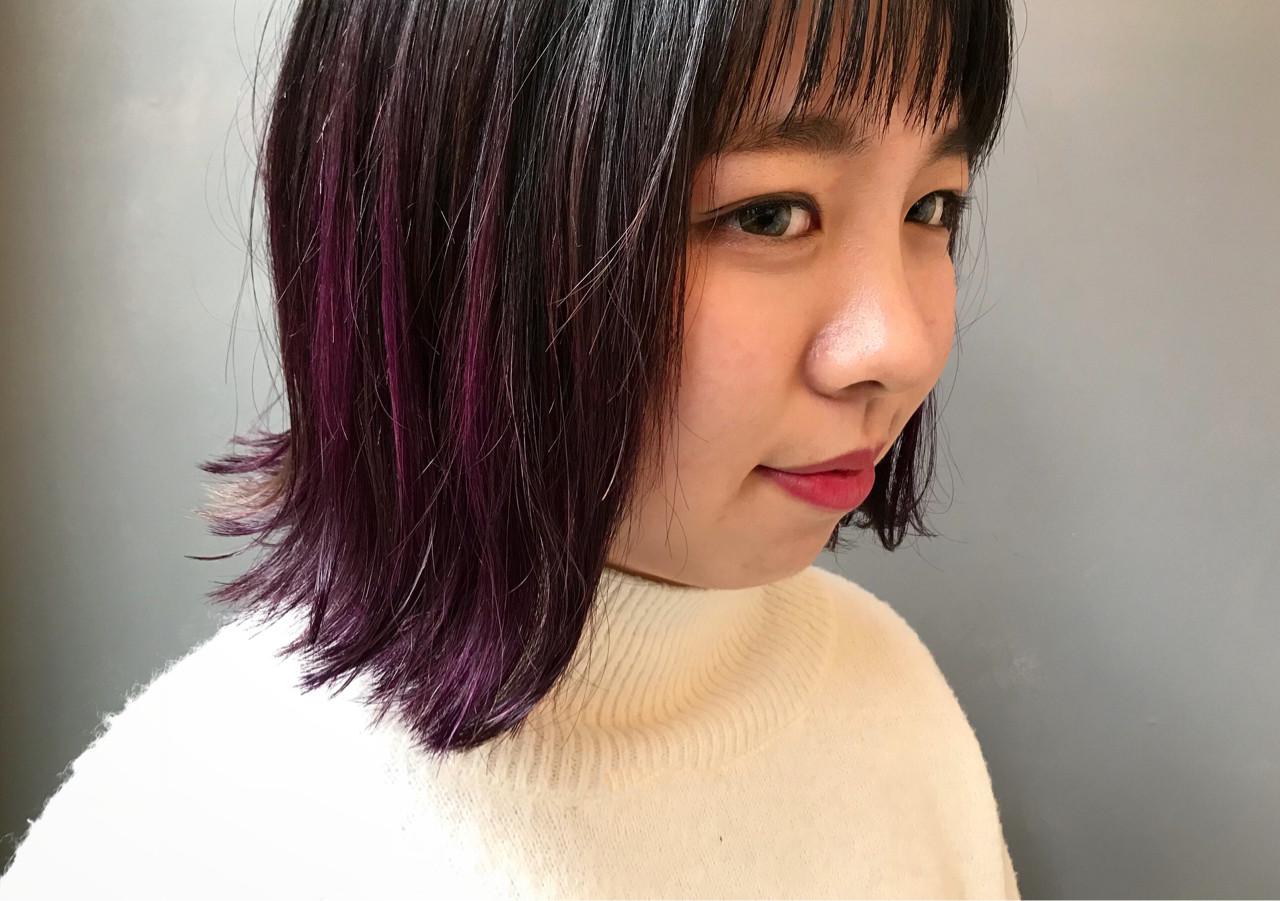色気 大人かわいい パープル 抜け感 ヘアスタイルや髪型の写真・画像   松尾 知晃 / MASHU北堀江