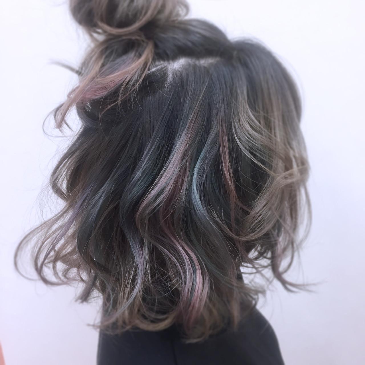 外国人風 ストリート ボブ インナーカラー ヘアスタイルや髪型の写真・画像 | YSO / 電髪倶楽部street
