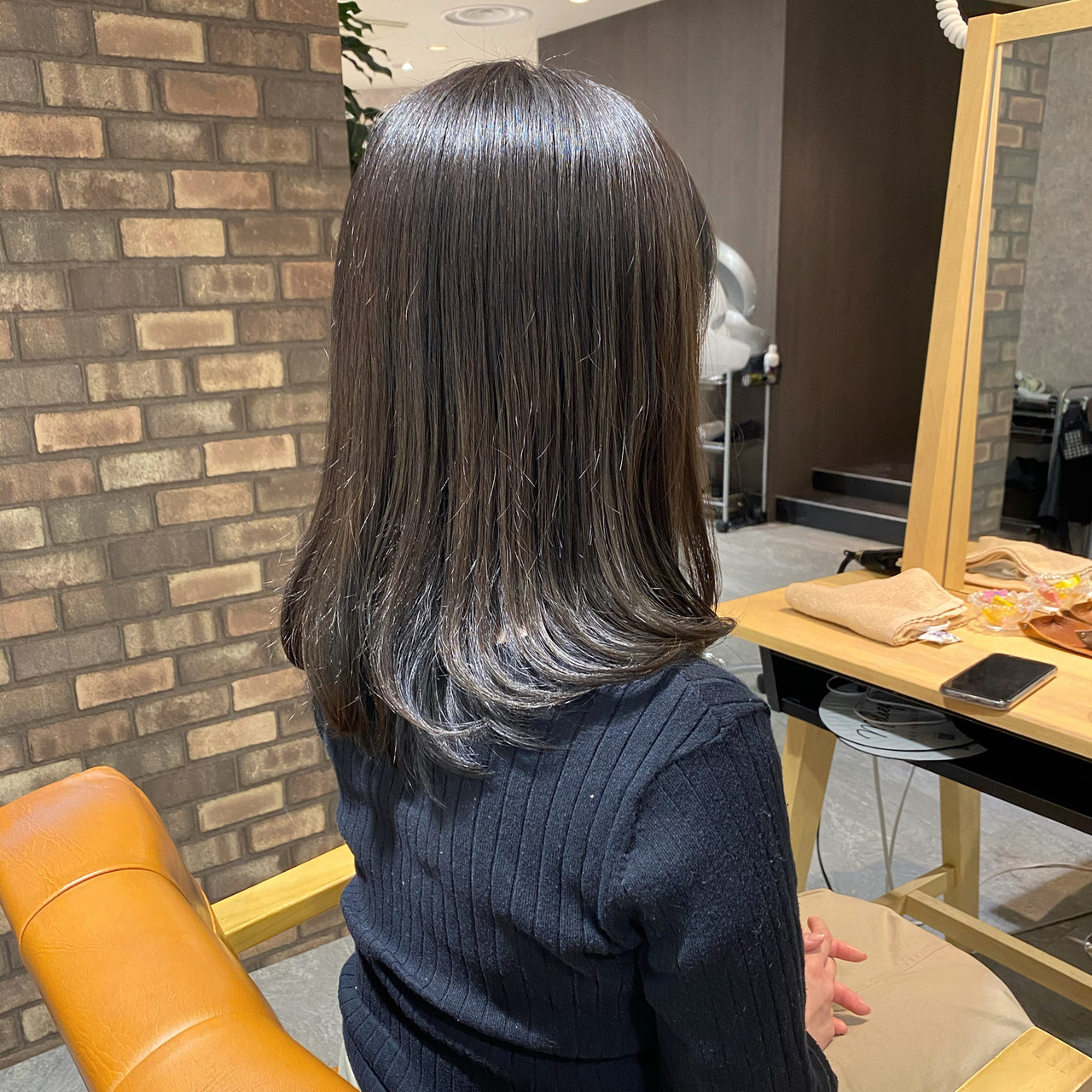 アイロンワーク ミディアムヘアー 透明感カラー ミディアム ヘアスタイルや髪型の写真・画像