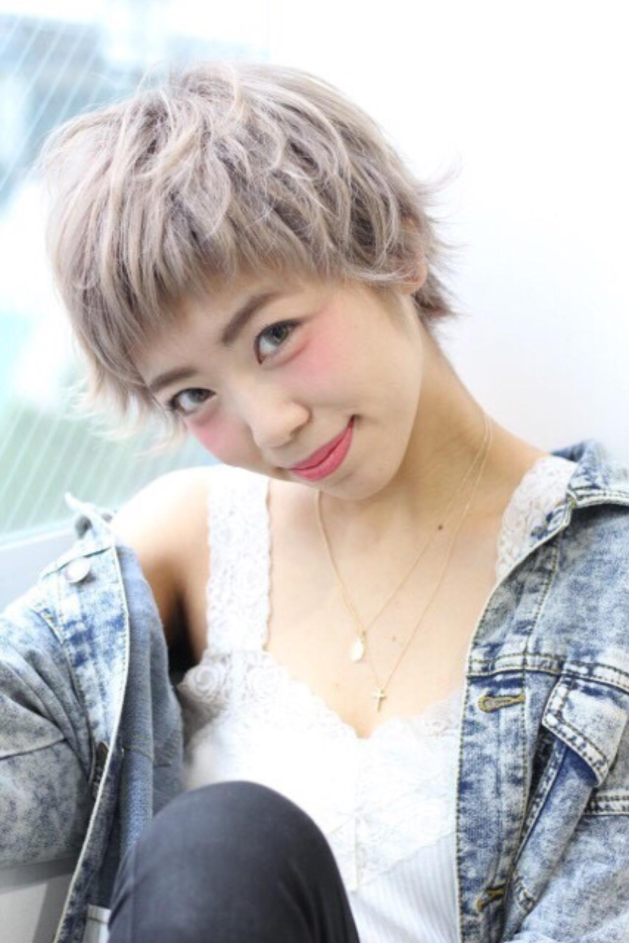 ナチュラル ショート ピュア ゆるふわ ヘアスタイルや髪型の写真・画像 | Demi /