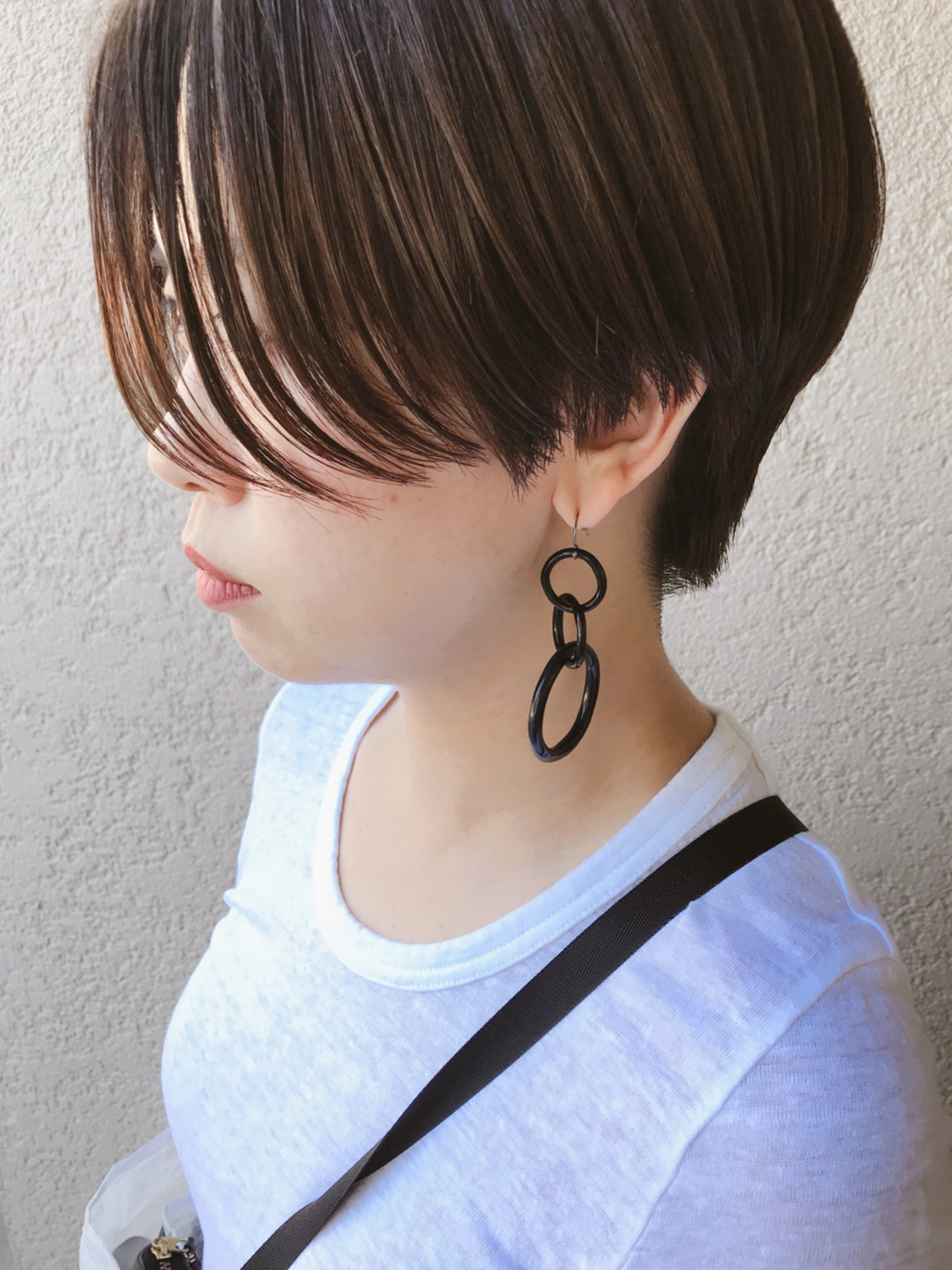 ヘアアレンジ ナチュラル ショート 涼しげ ヘアスタイルや髪型の写真・画像