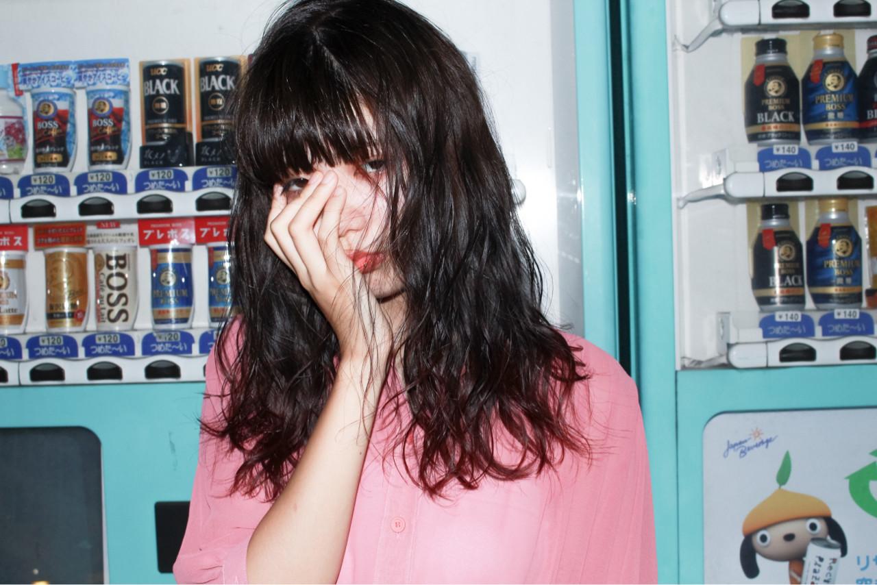 ピュア ミディアム ワイドバング 黒髪 ヘアスタイルや髪型の写真・画像 | Ryusei Maeda / free