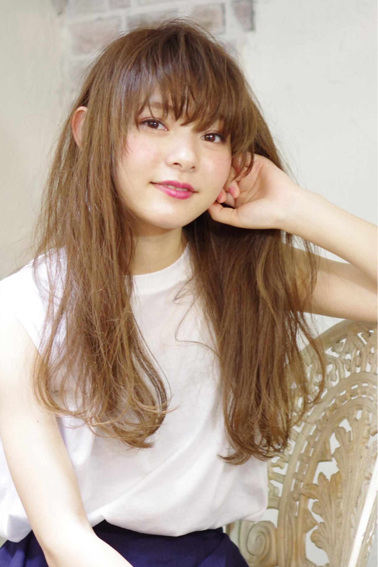 大人かわいい 外国人風 フェミニン ロング ヘアスタイルや髪型の写真・画像 | 西川 賢一 blast / blast