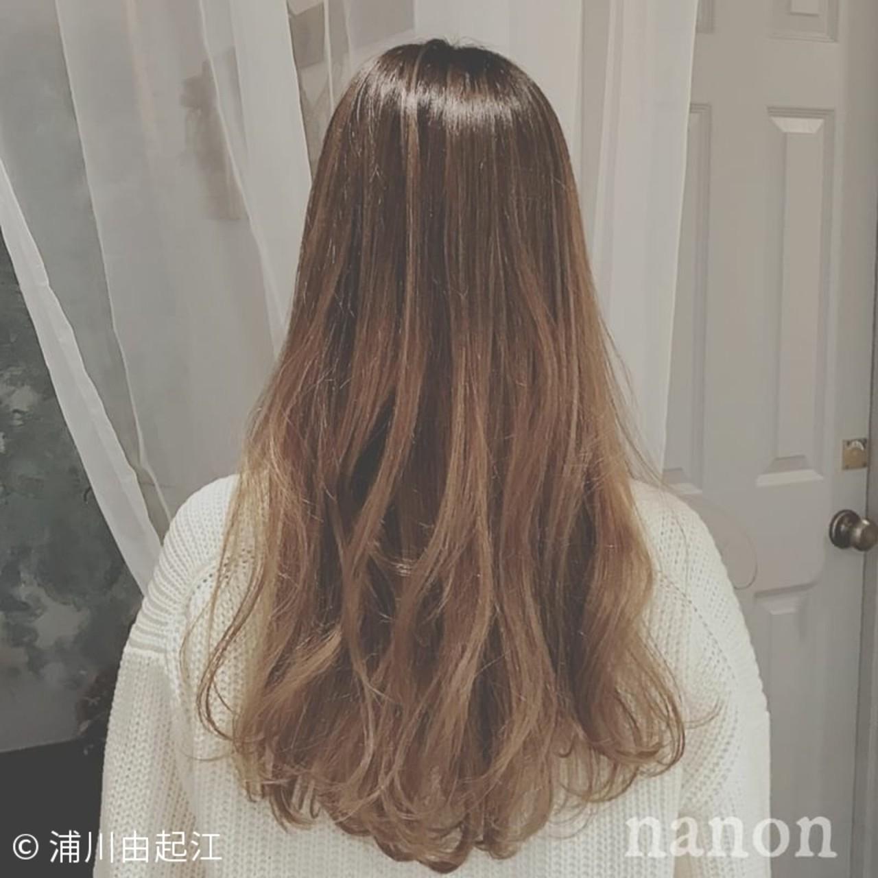 ロング グラデーションカラー 外国人風カラー ゆるふわ ヘアスタイルや髪型の写真・画像 | 浦川由起江 / nanon