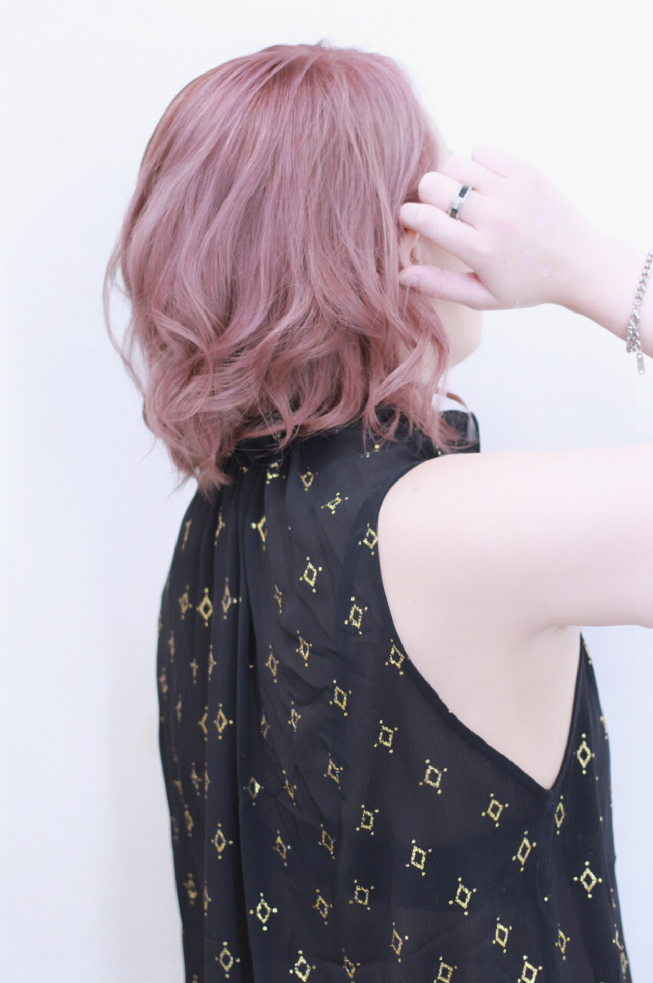 外国人風 ダブルカラー ボブ 透明感 ヘアスタイルや髪型の写真・画像
