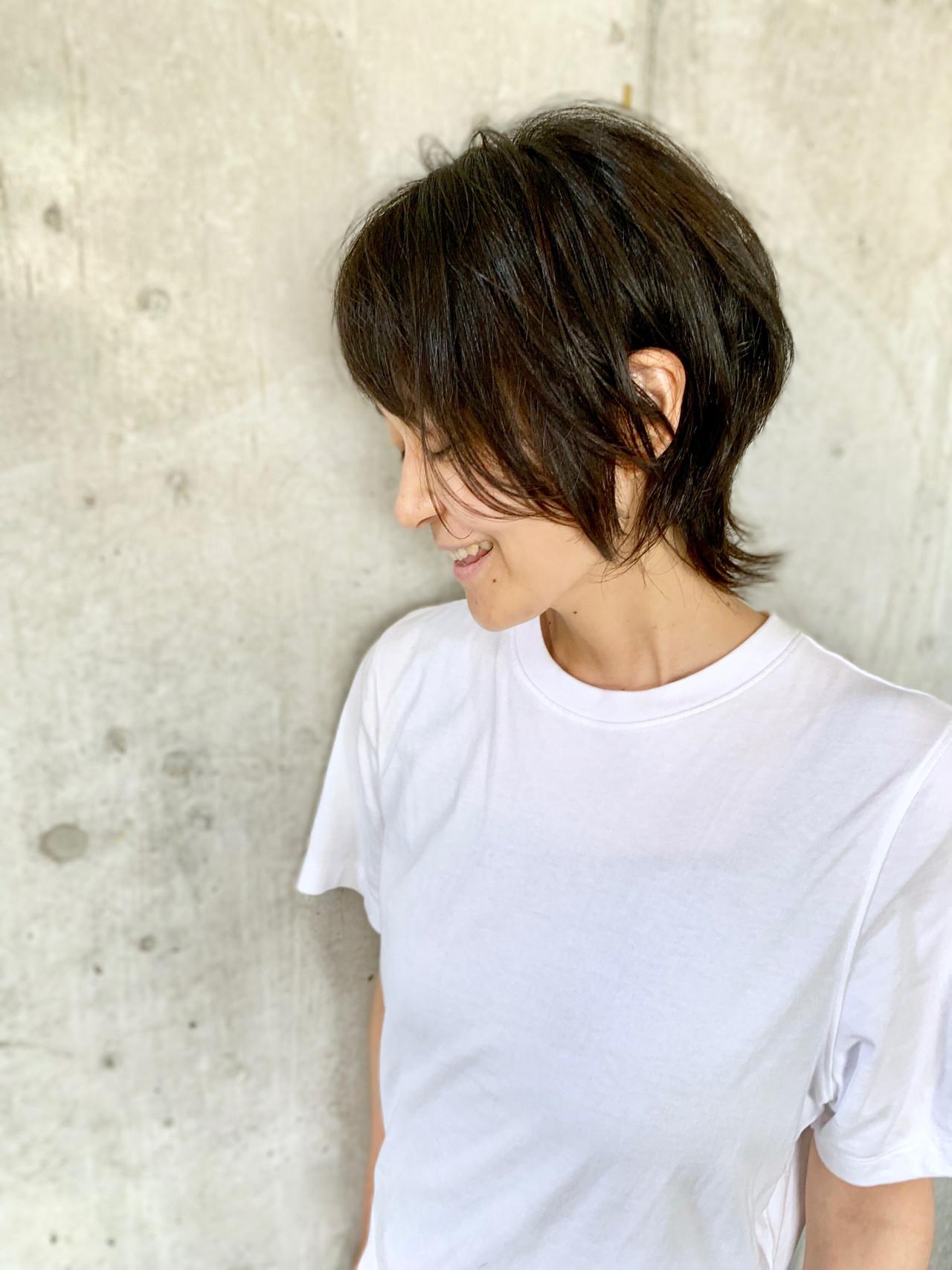 ショート モード ウルフカット ショートヘア ヘアスタイルや髪型の写真・画像 | 黒河 祐樹 / ドアベル ヘアリビング