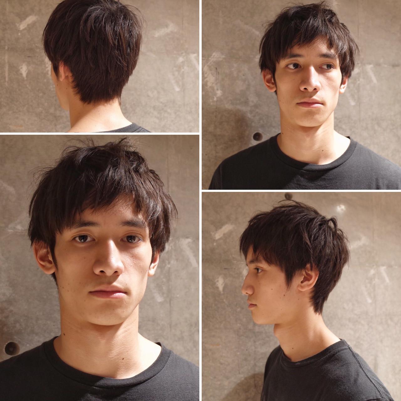 ナチュラル ショート ツーブロック メンズヘア ヘアスタイルや髪型の写真・画像