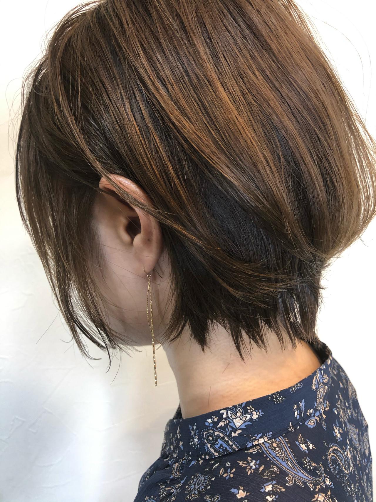 ナチュラル インナーカラー ミニボブ ボブ ヘアスタイルや髪型の写真・画像   ヒロナガ ツヨシ / Lull