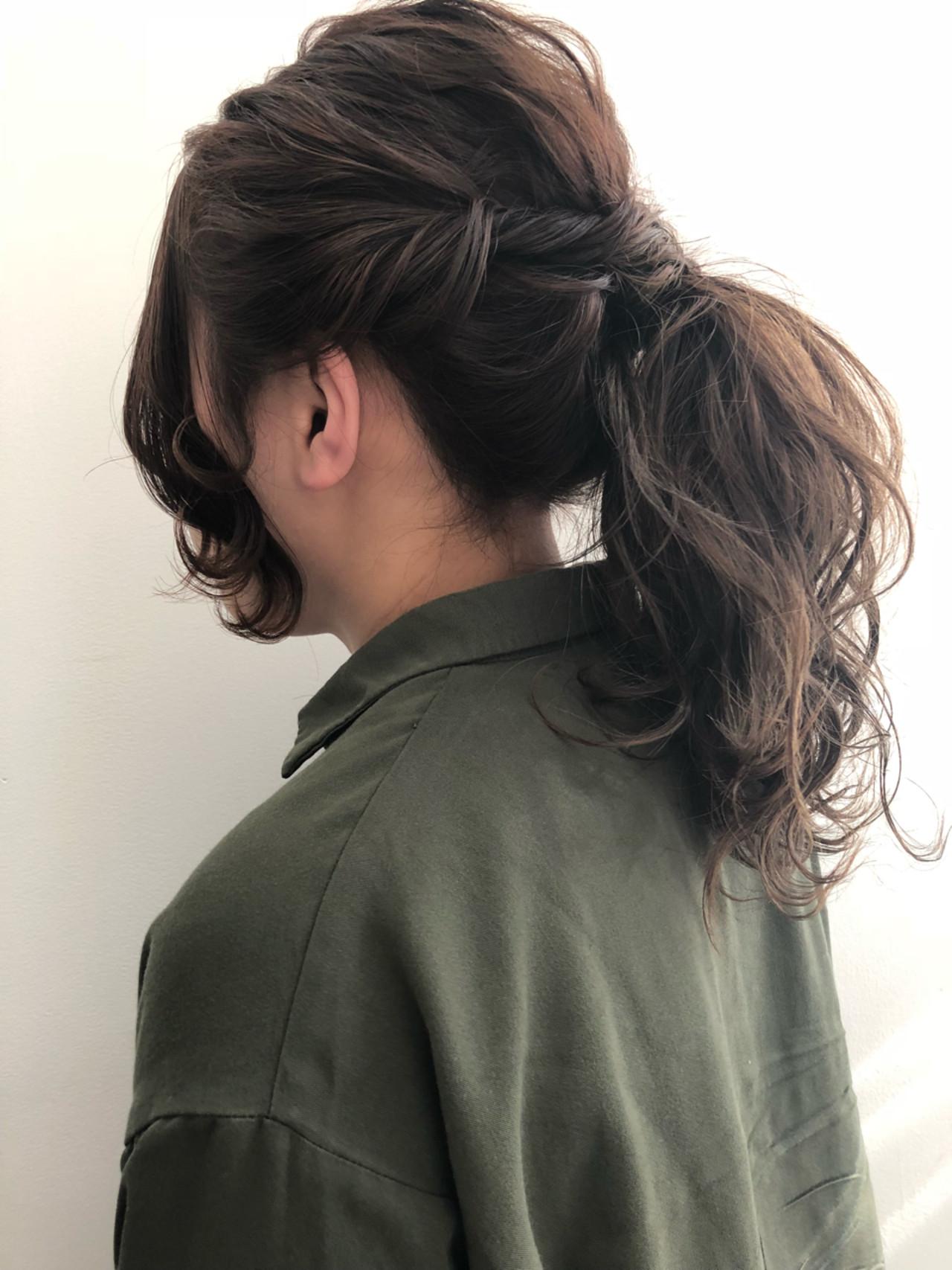 ロング ヘアアレンジ 大人女子 ショート ヘアスタイルや髪型の写真・画像 | 藤城 恭平 / toneriko