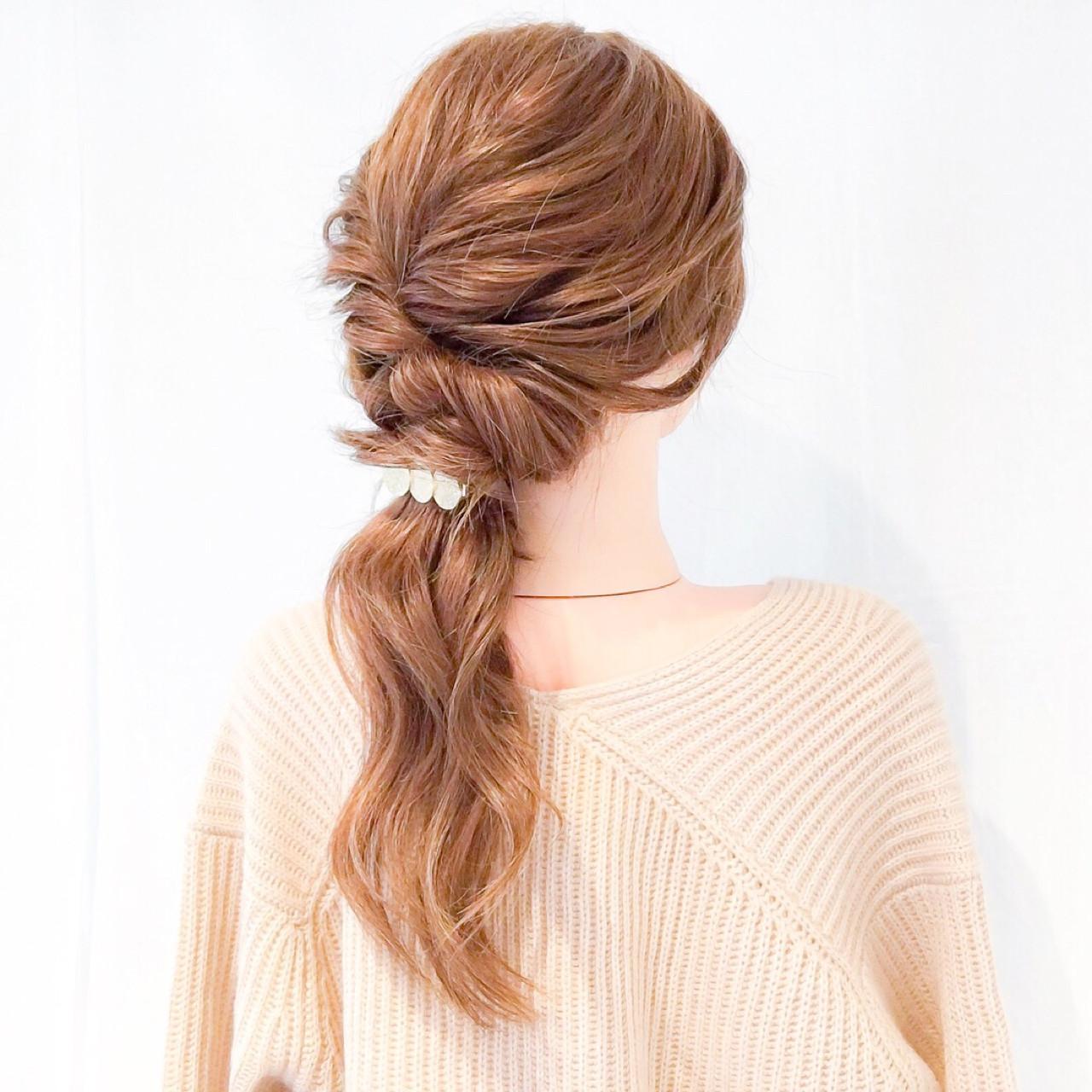 上品 オフィス ロング ヘアアレンジ ヘアスタイルや髪型の写真・画像