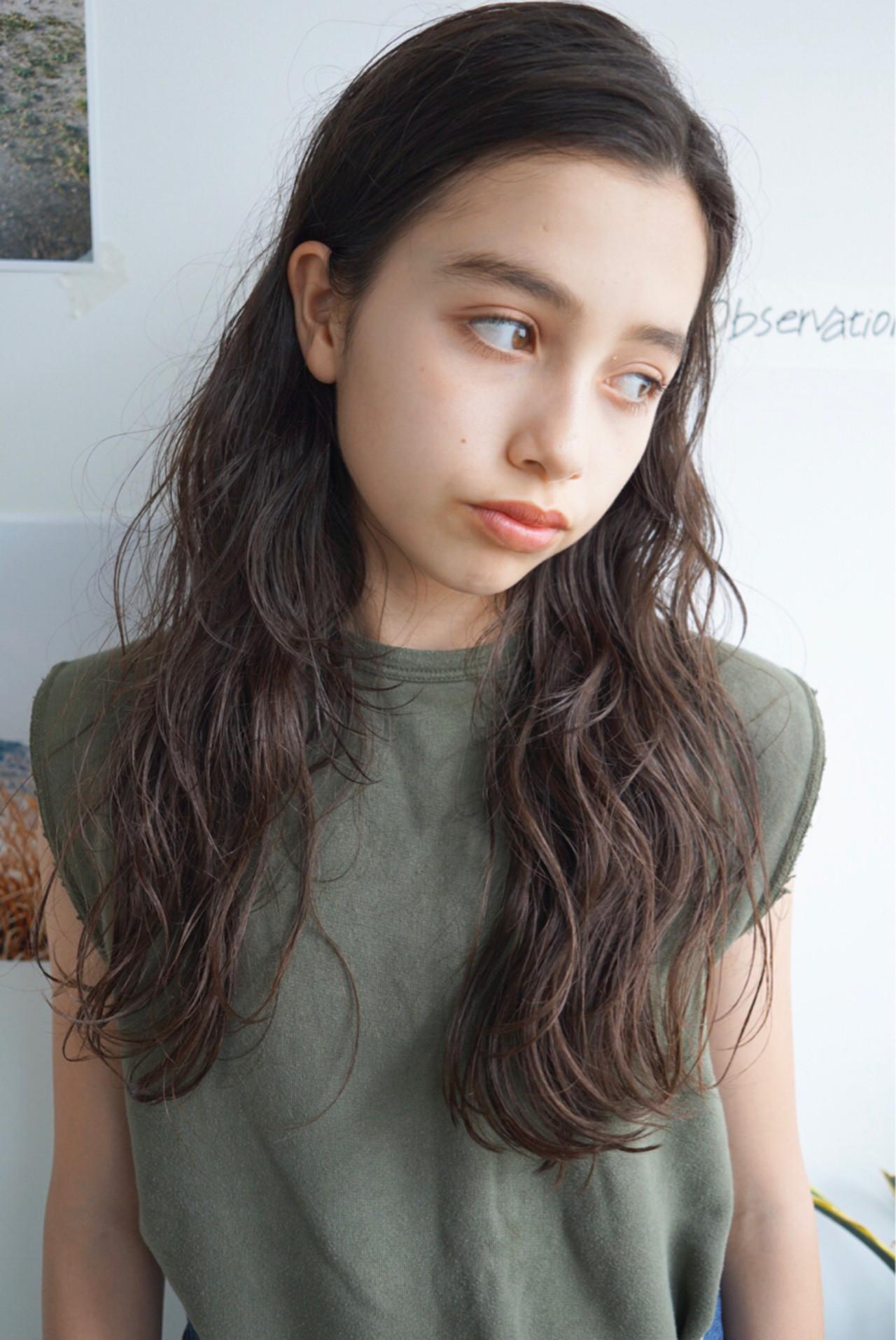 ロング 外国人風 センターパート パーマ ヘアスタイルや髪型の写真・画像 | UEKI/nanuk / nanuk二子玉川