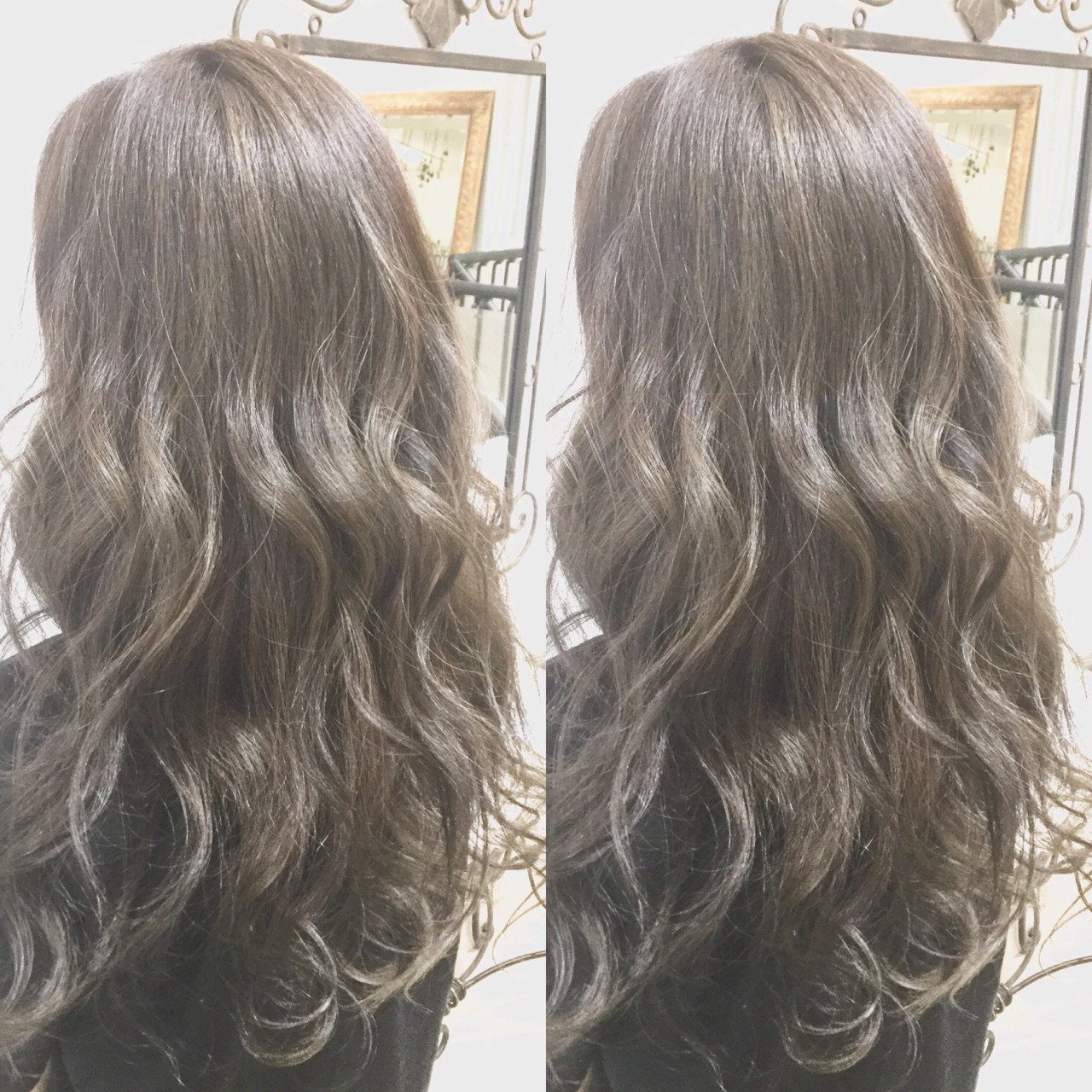 ロング 外国人風カラー グレージュ グラデーションカラー ヘアスタイルや髪型の写真・画像