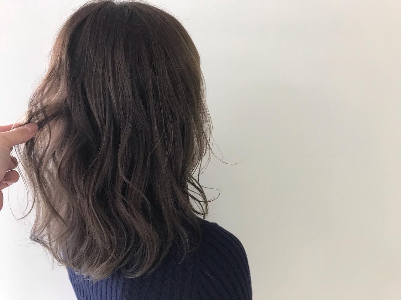ヘアアレンジ ミディアム デート ナチュラル ヘアスタイルや髪型の写真・画像