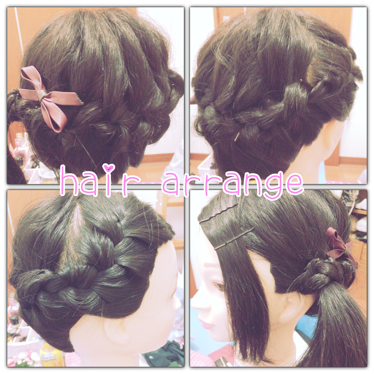 かわいい ゆるふわ ヘアアレンジ 編み込み ヘアスタイルや髪型の写真・画像   yu /