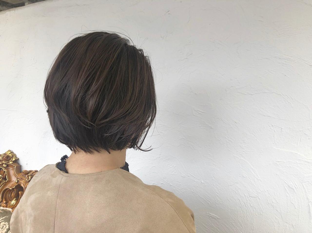 オフィス ウェットヘア ナチュラル ショート ヘアスタイルや髪型の写真・画像
