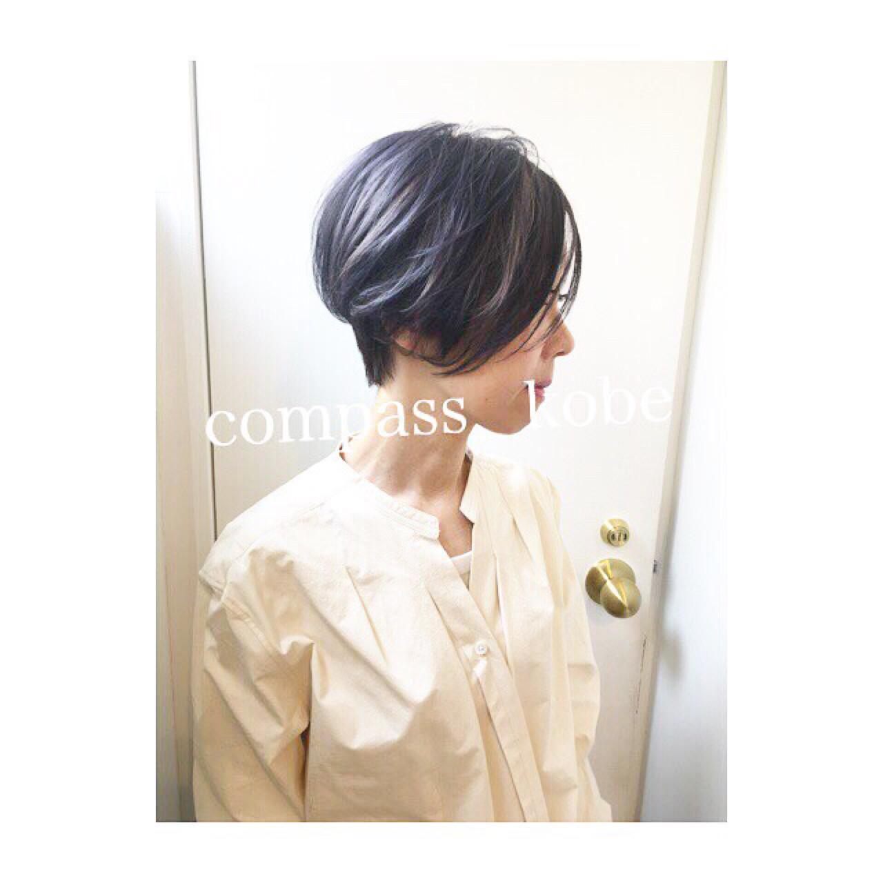 ショートヘア × パープルアッシュ デザインカラー☆ スタッフ募集中♫