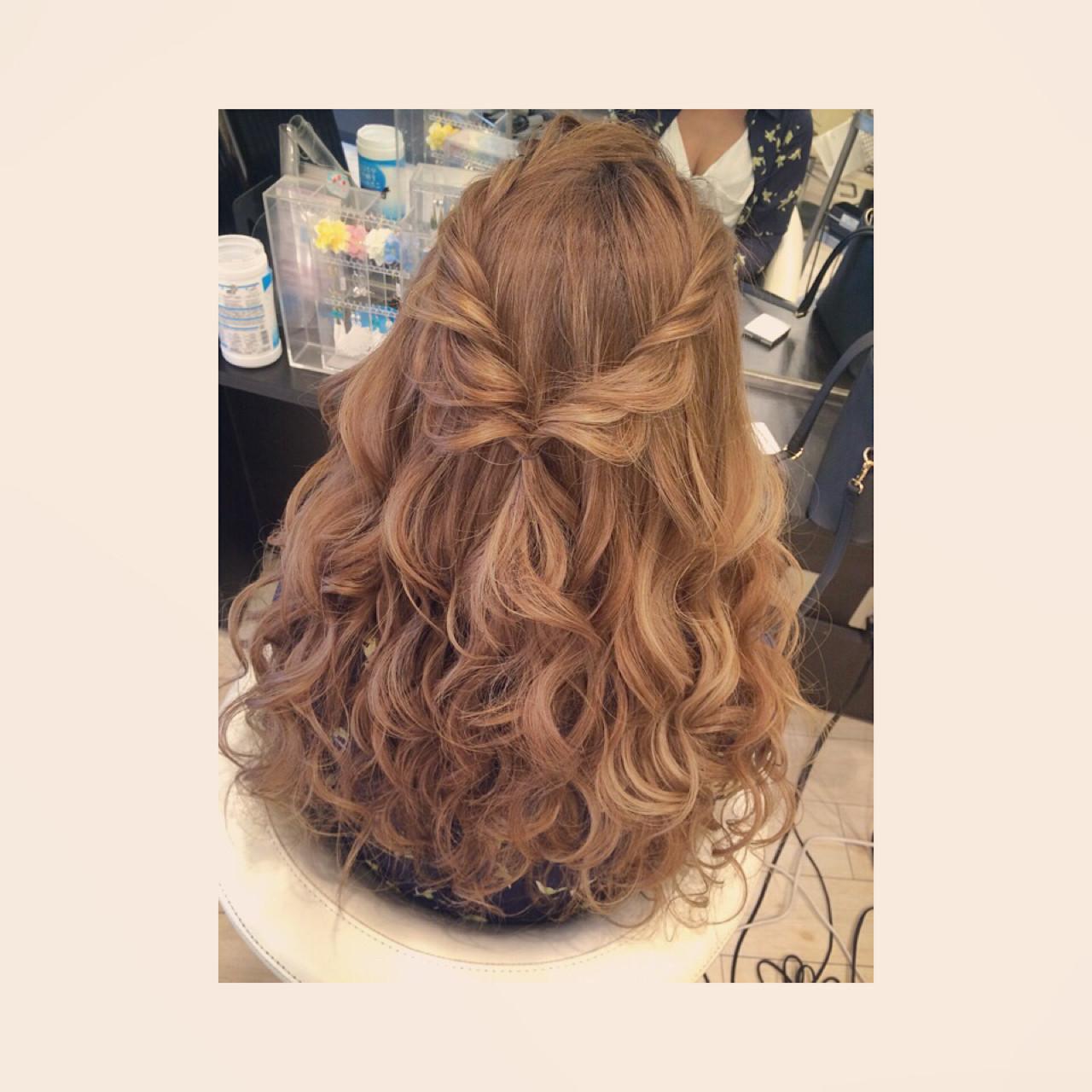ショート 簡単ヘアアレンジ ゆるふわ ヘアアレンジ ヘアスタイルや髪型の写真・画像   aoi / hair make laule'a