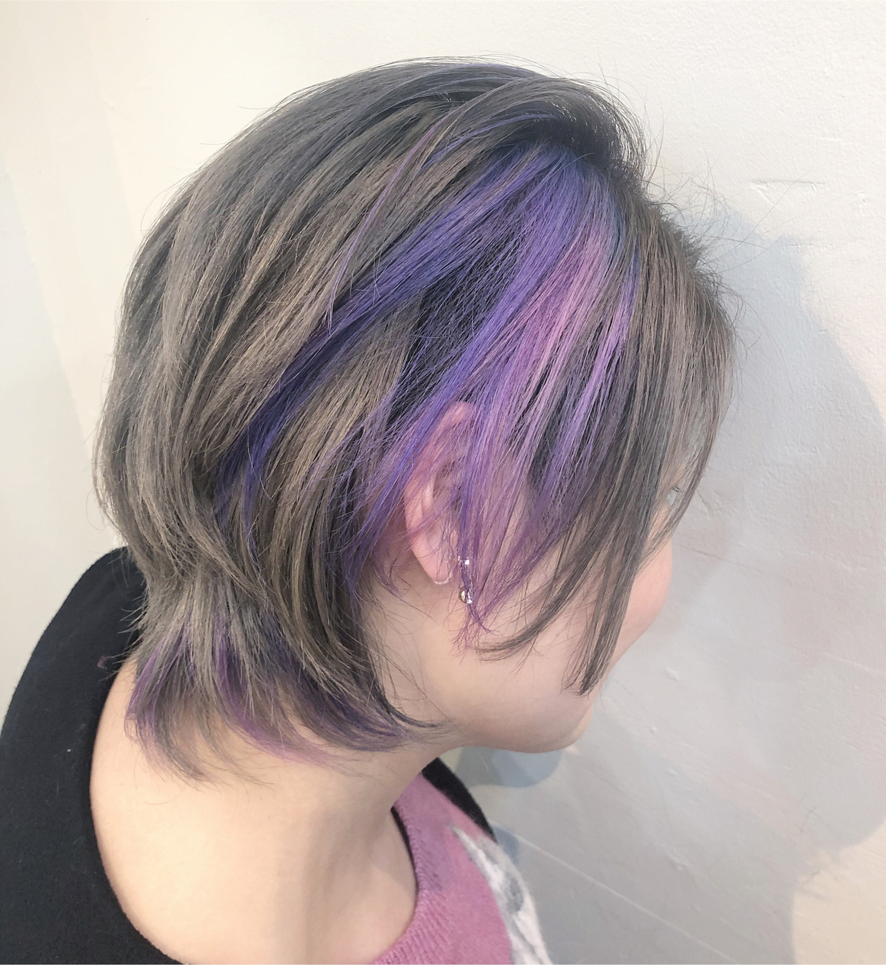 インナーカラー ユニコーンカラー ハイライト ストリート ヘアスタイルや髪型の写真・画像