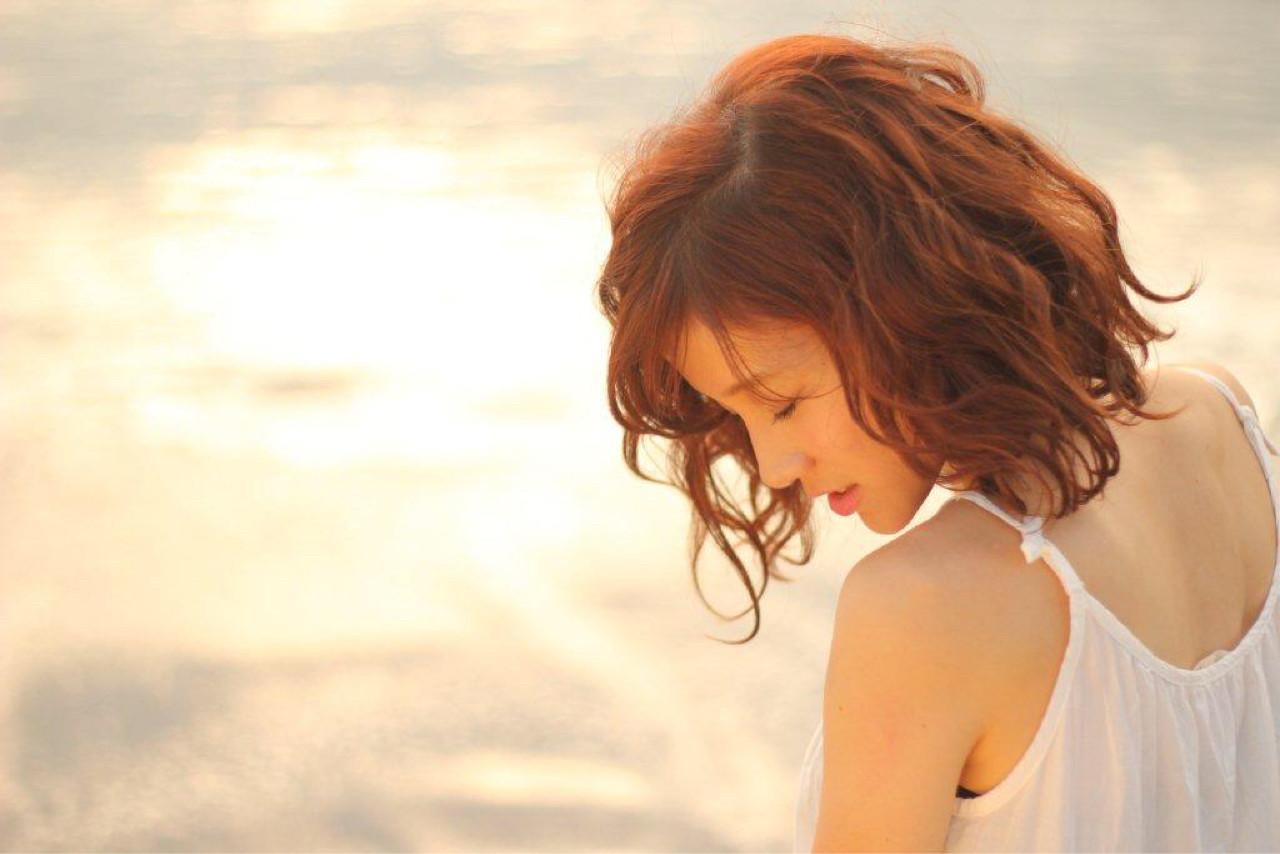 ミディアム かわいい ゆるふわ モテ髪 ヘアスタイルや髪型の写真・画像