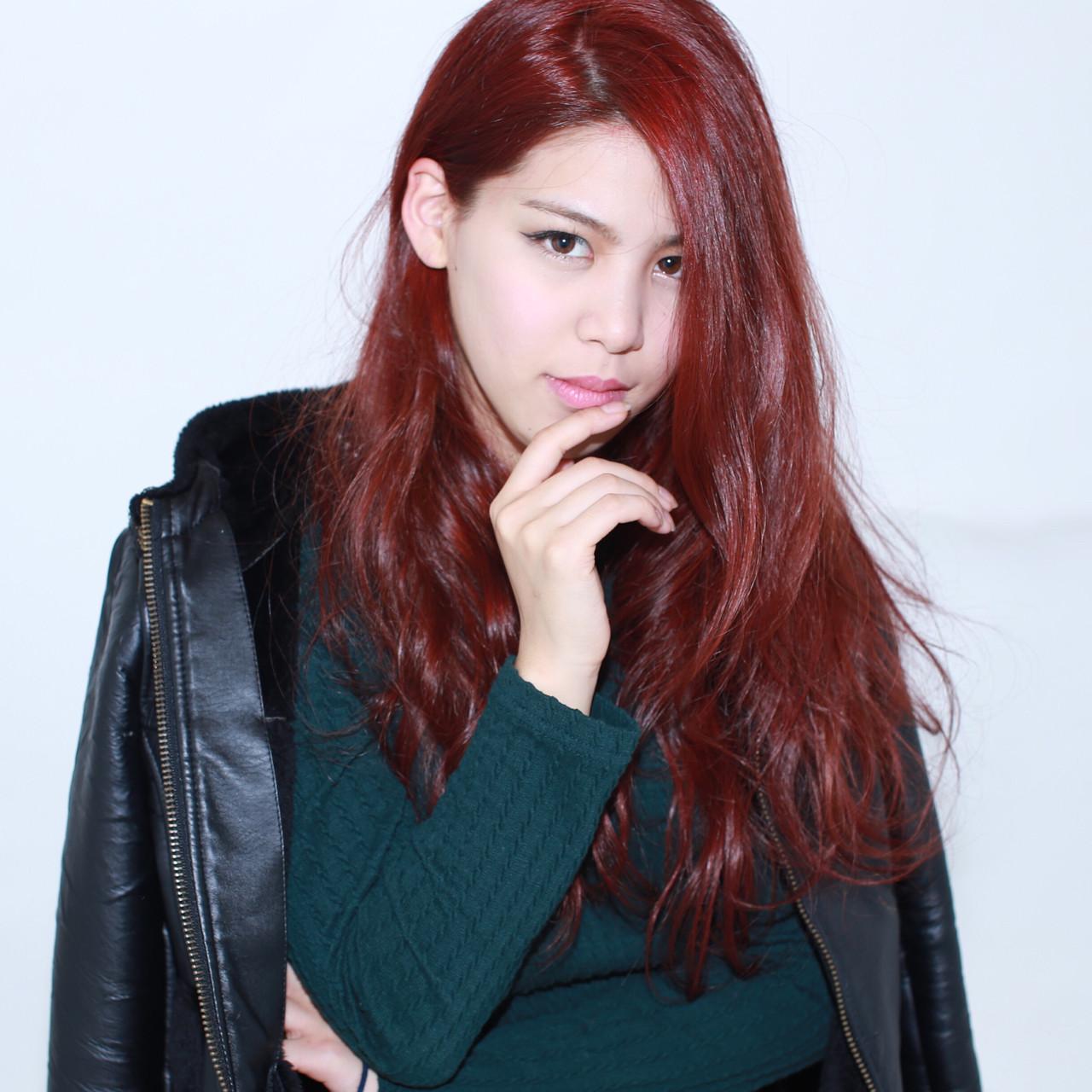ストリート ピンク 外国人風 フェミニン ヘアスタイルや髪型の写真・画像