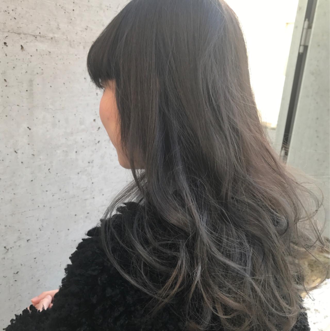グラデーションカラー ブルージュ ナチュラル ロング ヘアスタイルや髪型の写真・画像