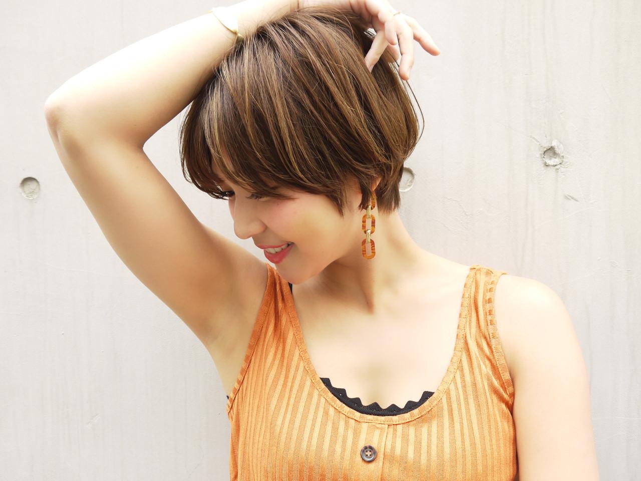 ショートボブ ショート ばっさり 大人かわいい ヘアスタイルや髪型の写真・画像