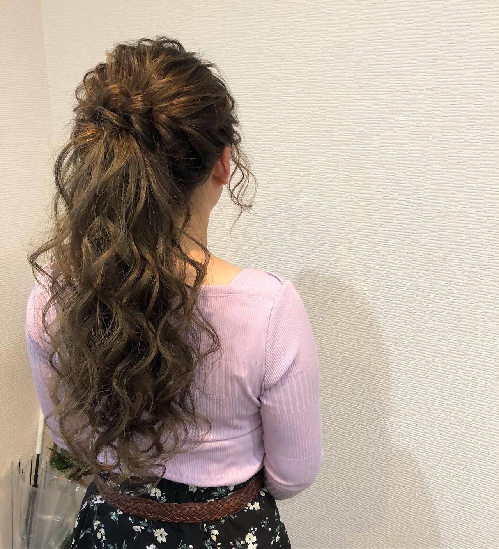 ヘアアレンジ 結婚式 ねじり ヘアセット ヘアスタイルや髪型の写真・画像