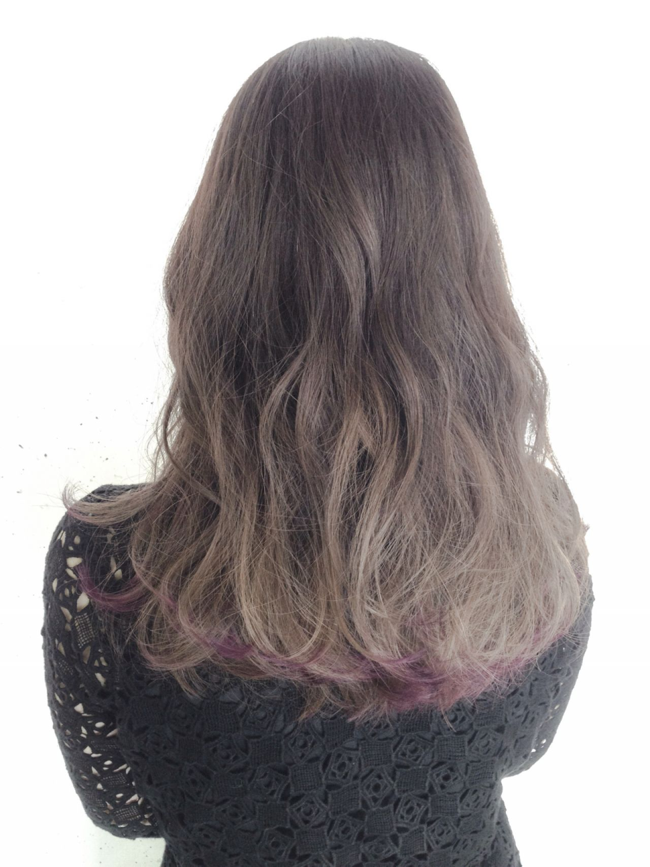 黒髪 グレーアッシュ ストリート グラデーションカラー ヘアスタイルや髪型の写真・画像 | 原木翔太 / lufun hair design  ルファン