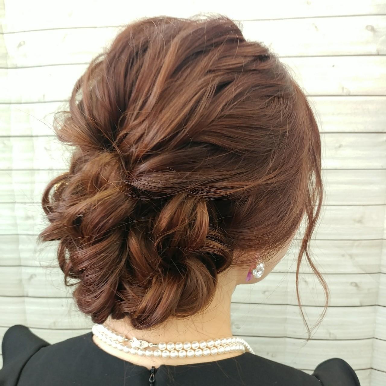 ロング アップ エレガント 波ウェーブ ヘアスタイルや髪型の写真・画像