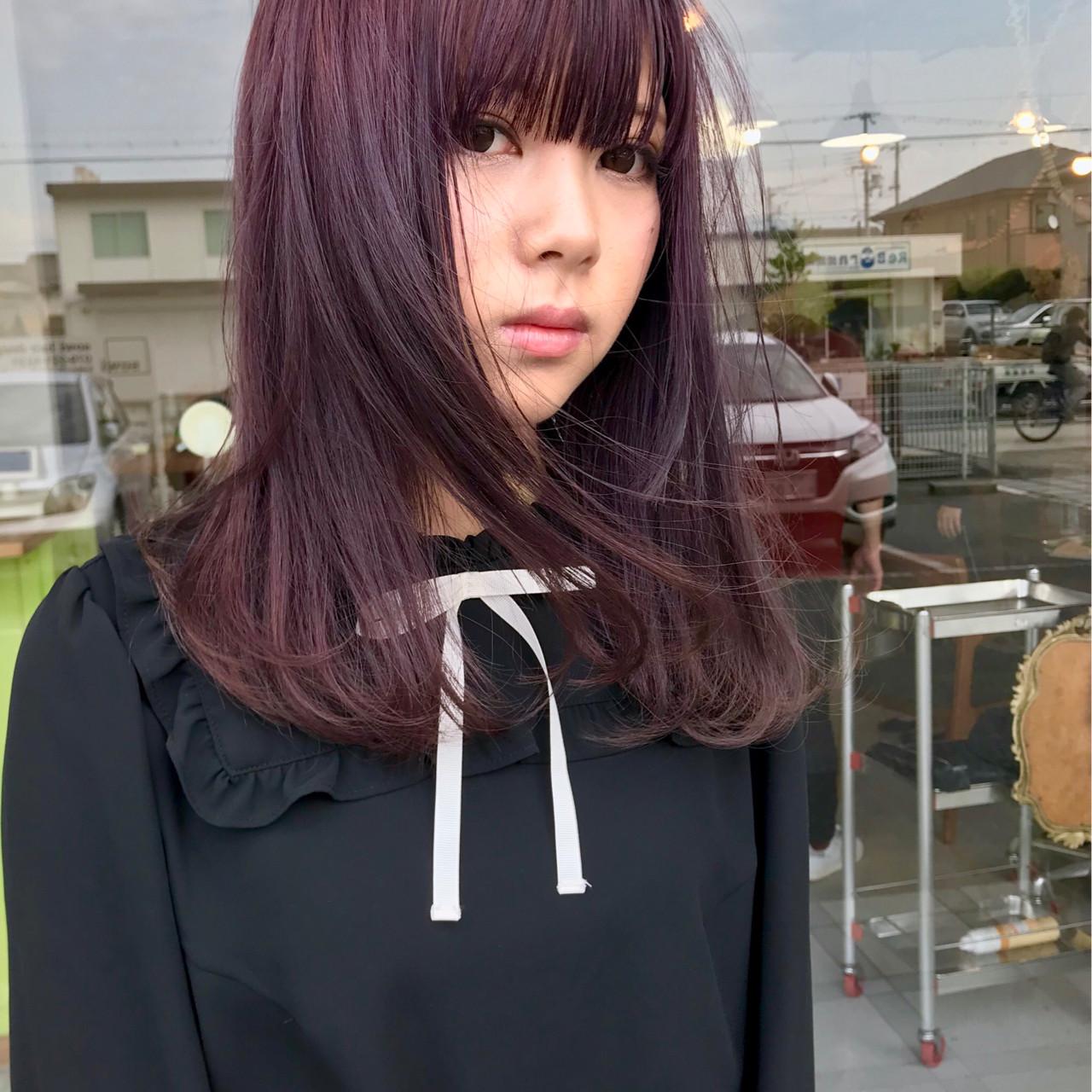 ストリート ラベンダーアッシュ ミディアム 外国人風カラー ヘアスタイルや髪型の写真・画像
