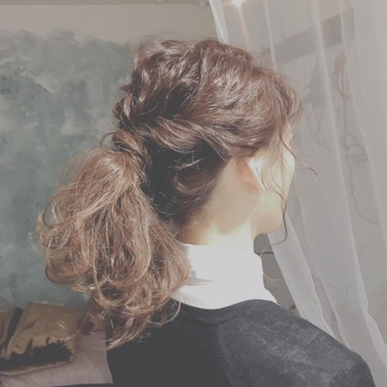ロング ゆるふわ ヘアアレンジ デート ヘアスタイルや髪型の写真・画像 | 浦川由起江 / nanon